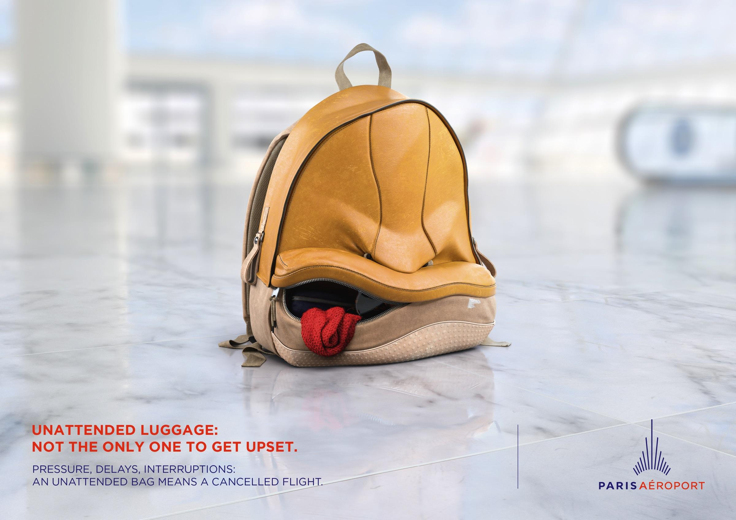 Paris Aéroport Outdoor Ad - Angry Bags, 2