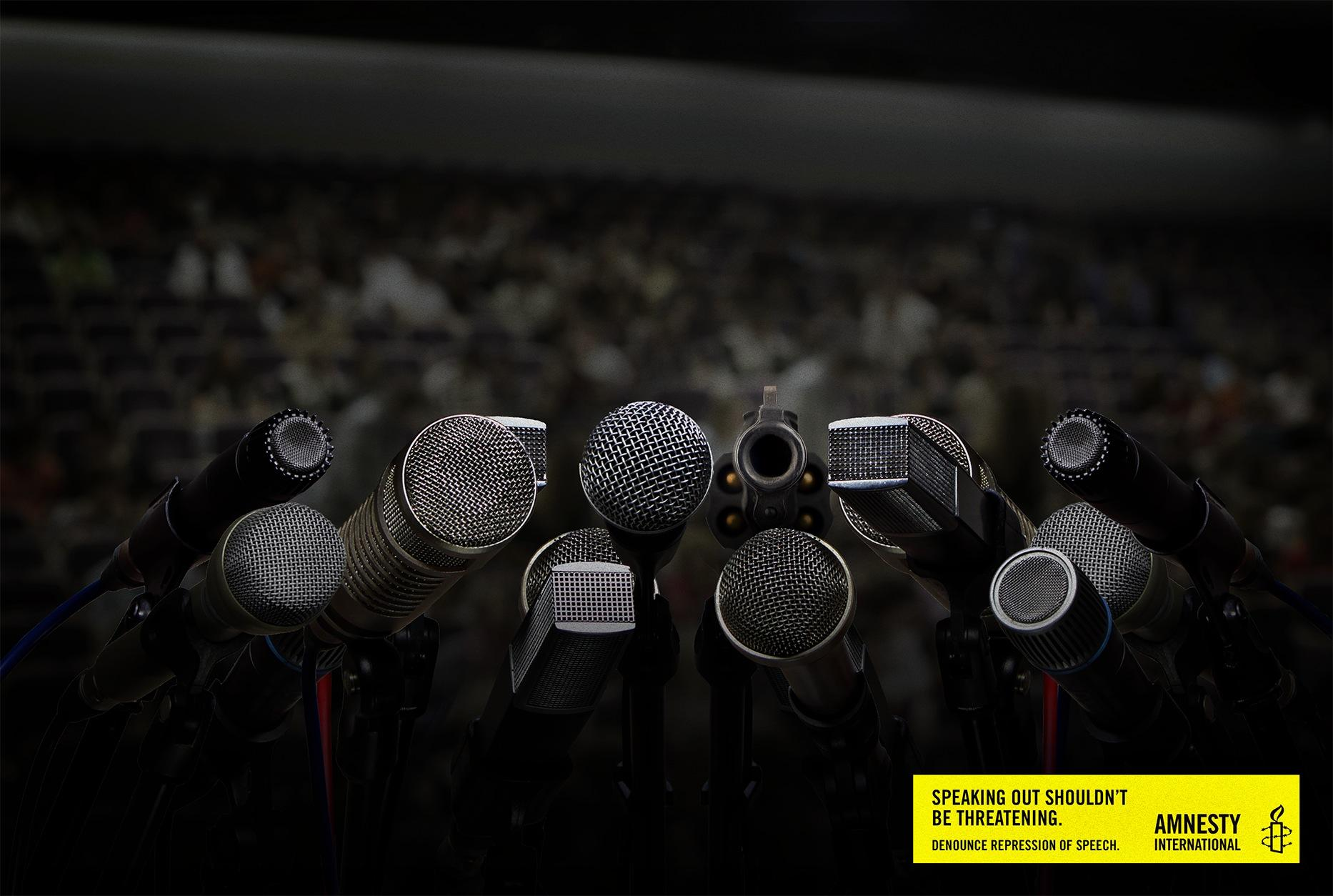 Amnesty International Print Ad -  Repression, 1