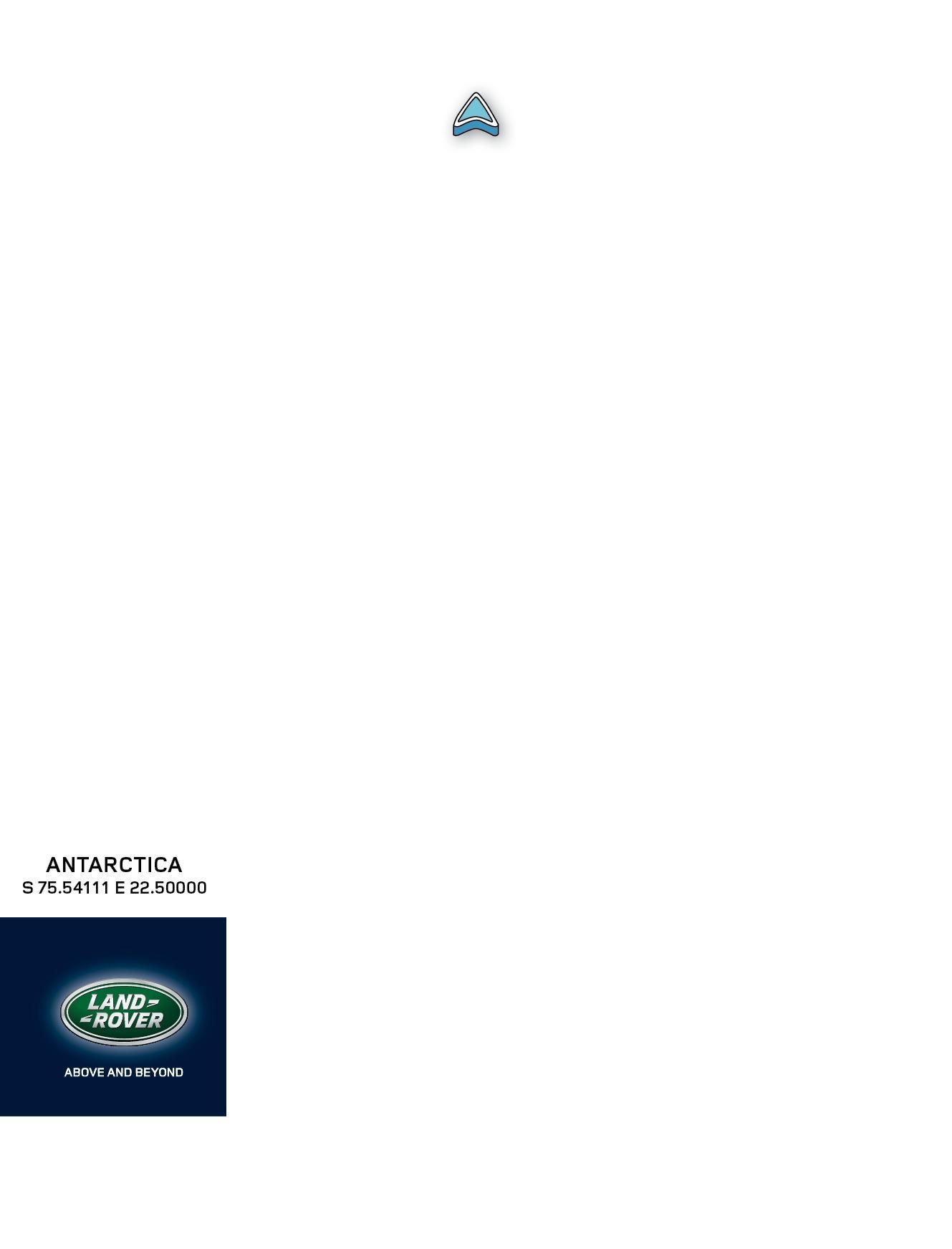 Land Rover Print Ad -  Antarctica
