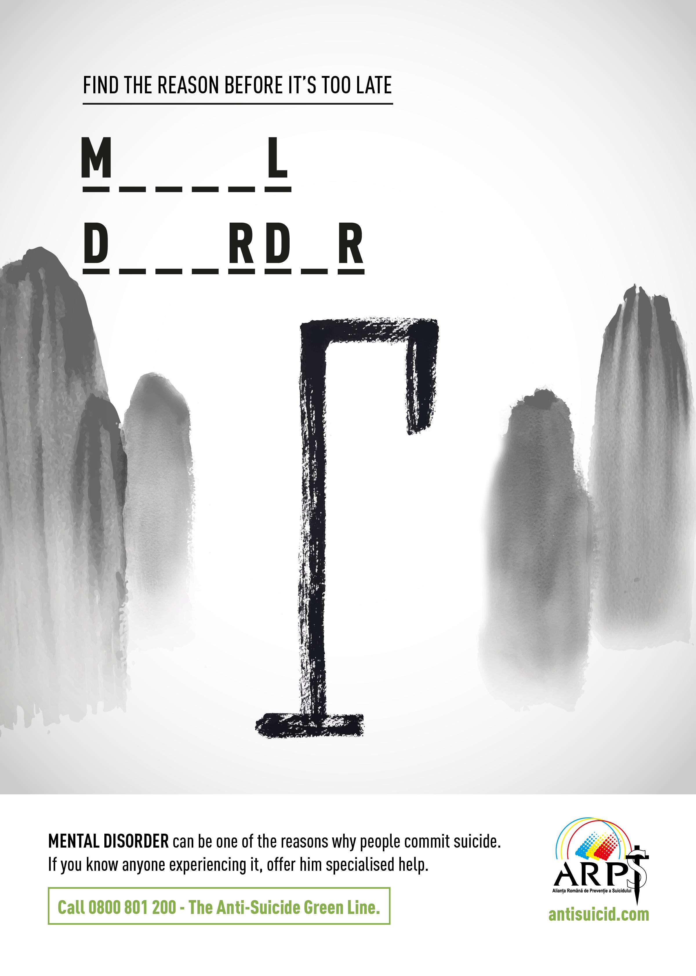 Romanian Alliance for Suicide Prevention Print Ad - Mental Disorder