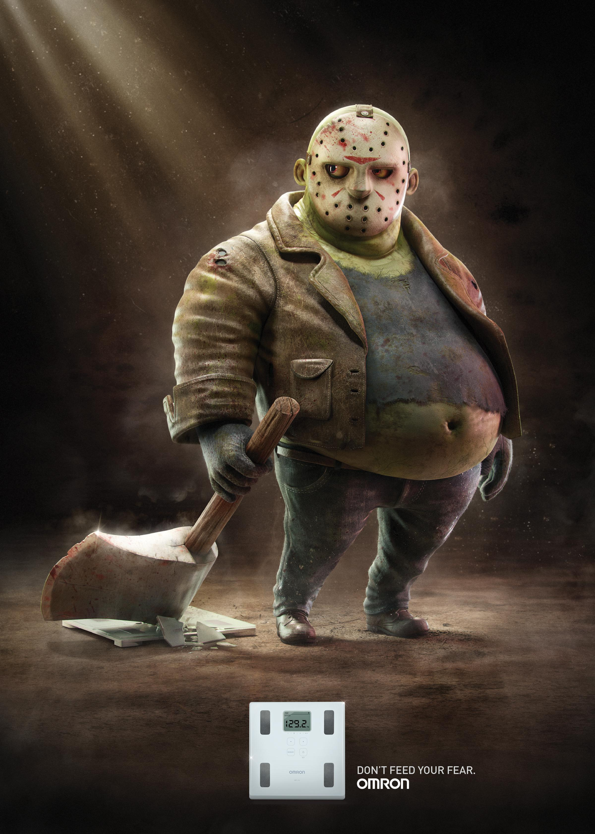 Omron Print Ad - Fat Jason