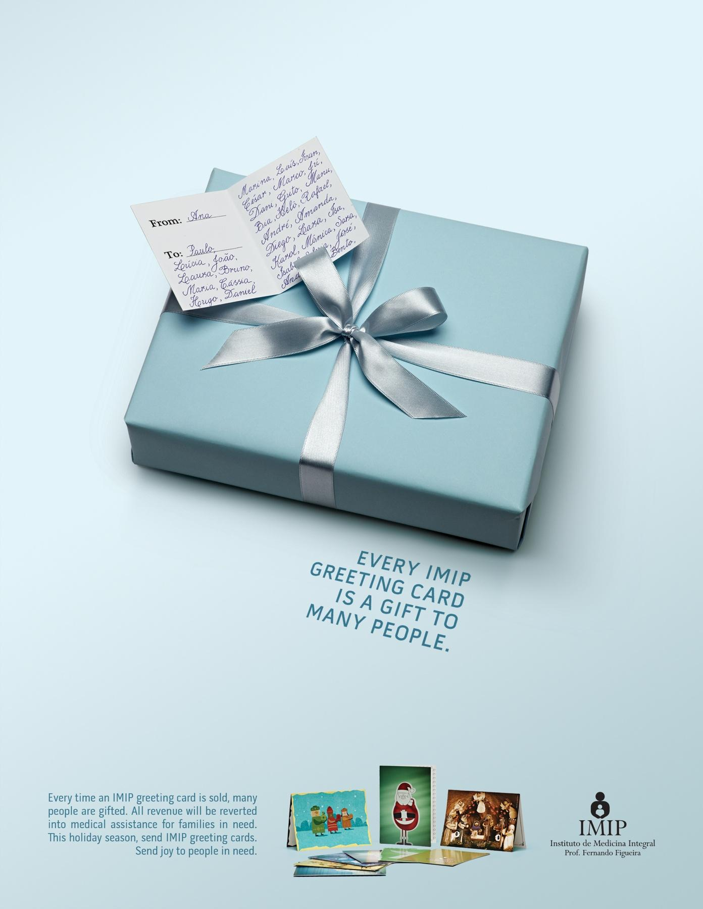 IMIP Print Ad -  Greetings card