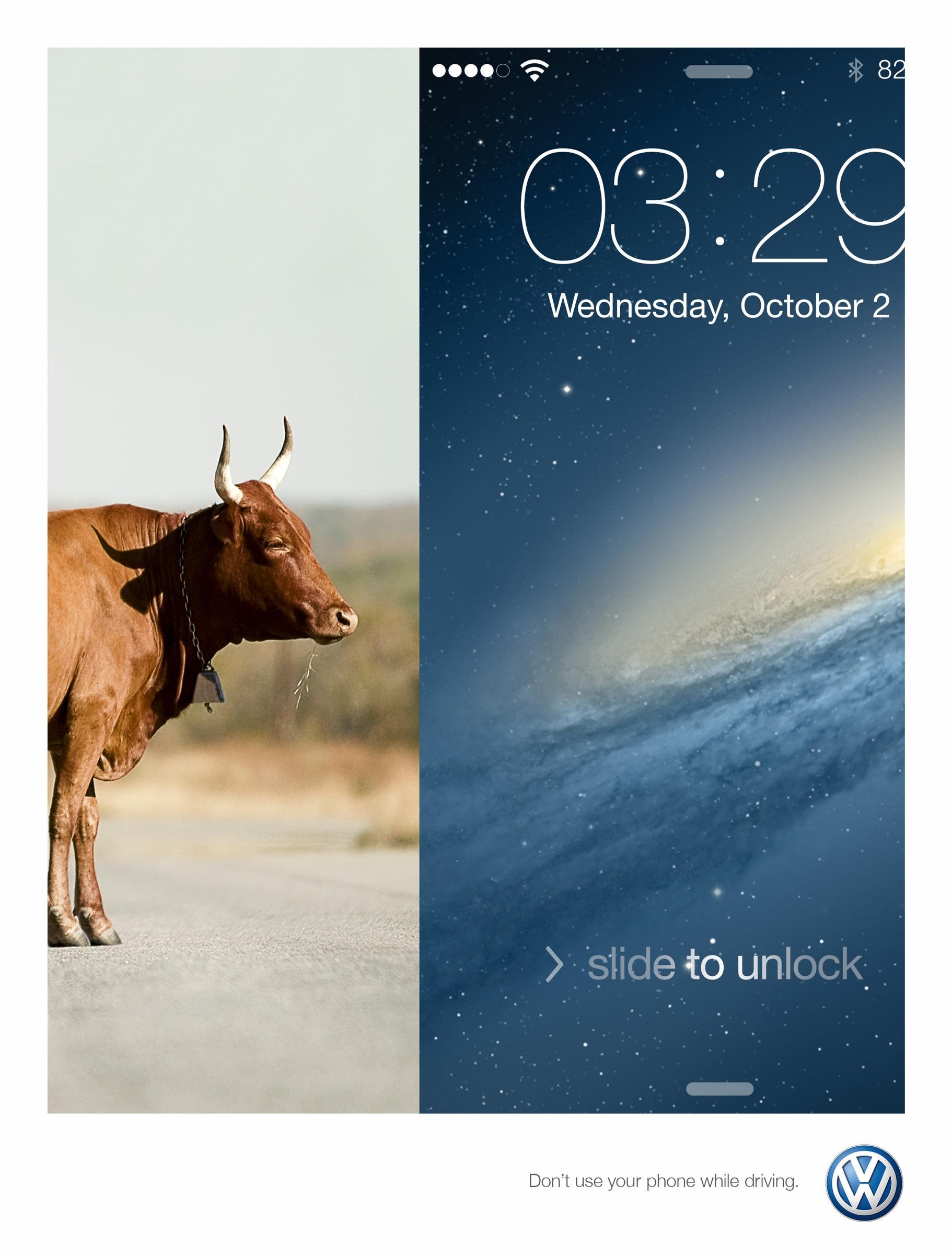 Volkswagen Print Ad -  Cow