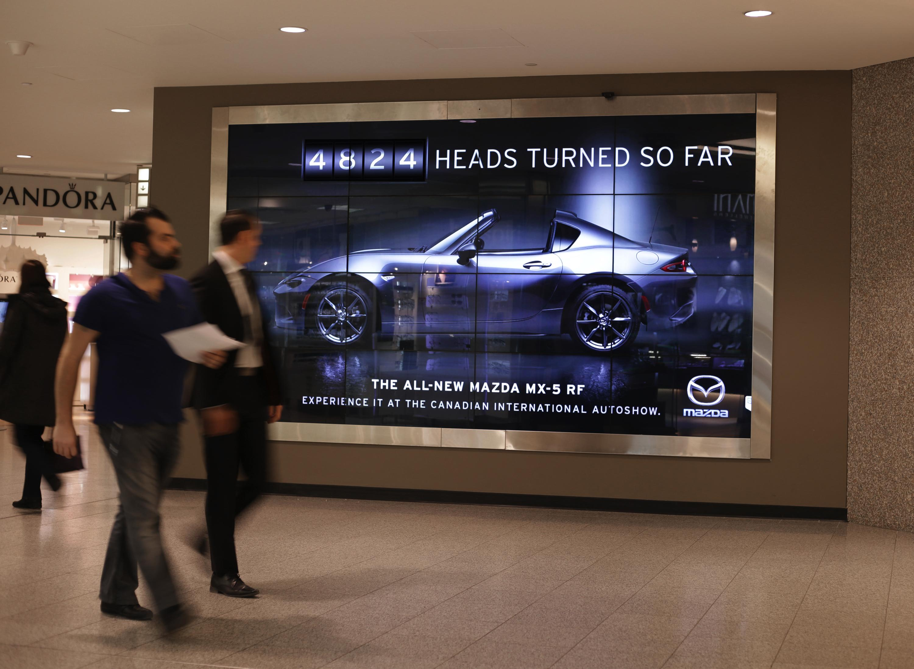 Mazda Outdoor Ad - The Head Turning Billboard