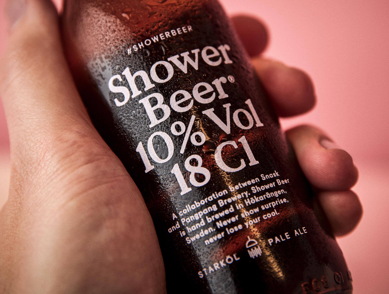 Snask Design Ad - Shower Beer