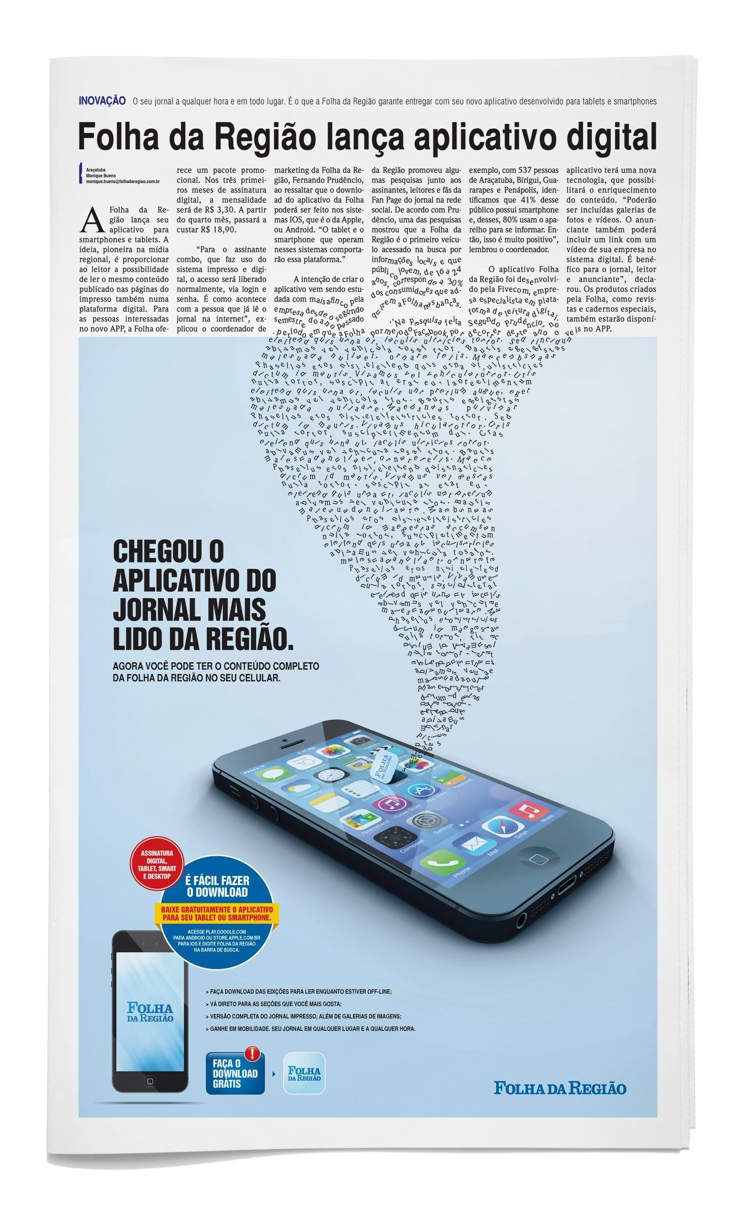 Folha da Regiao Print Ad -  App