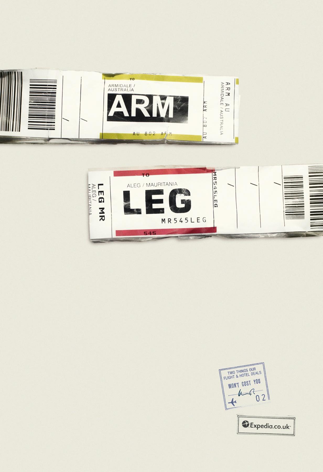 Expedia Print Ad -  ARM LEG