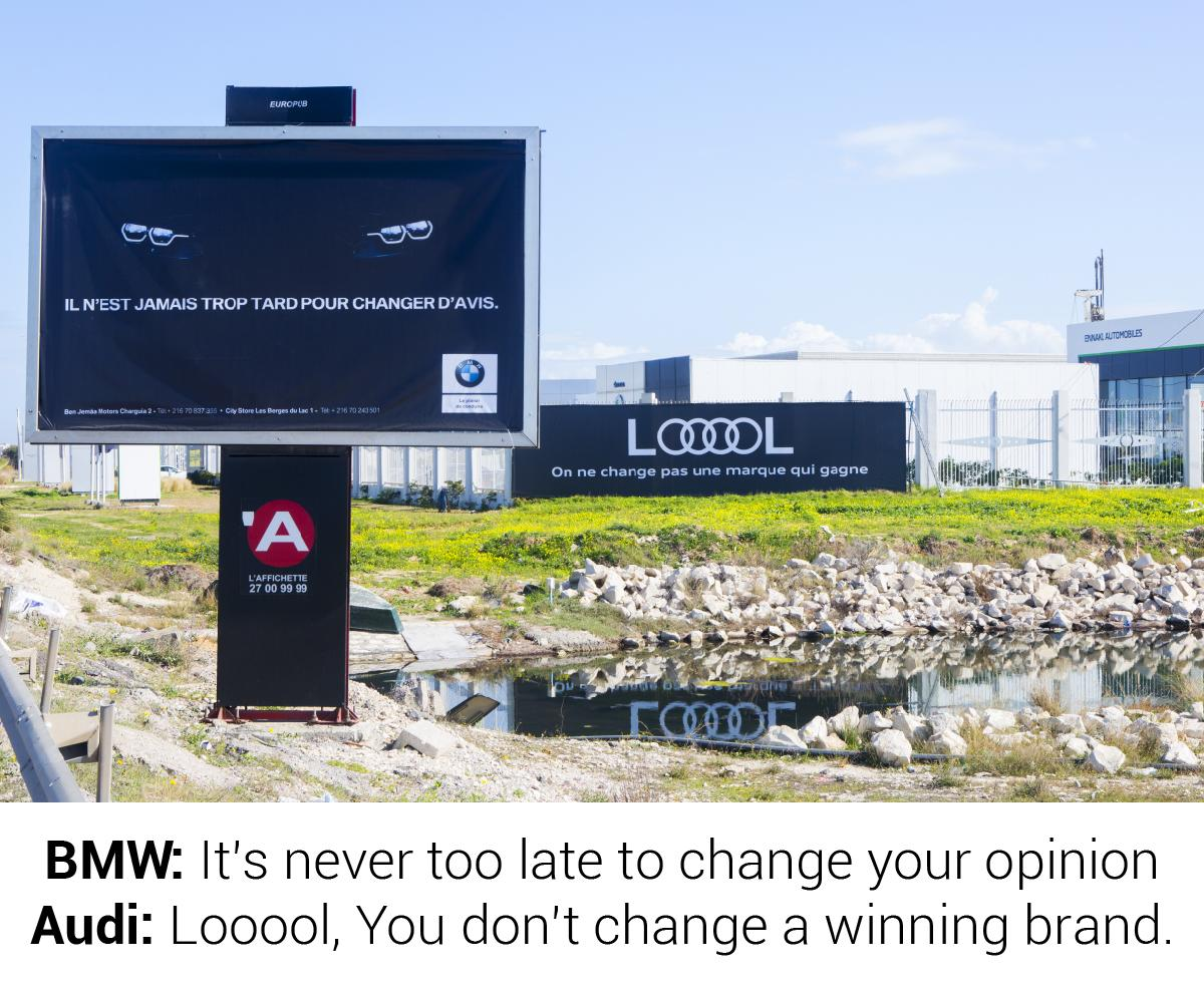 Audi Outdoor Ad - Audi LOOOOL