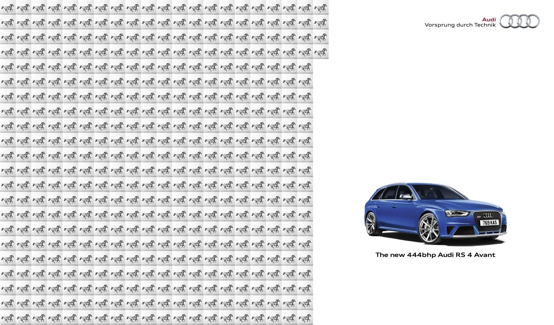 Audi Print Ad -  Horse Power