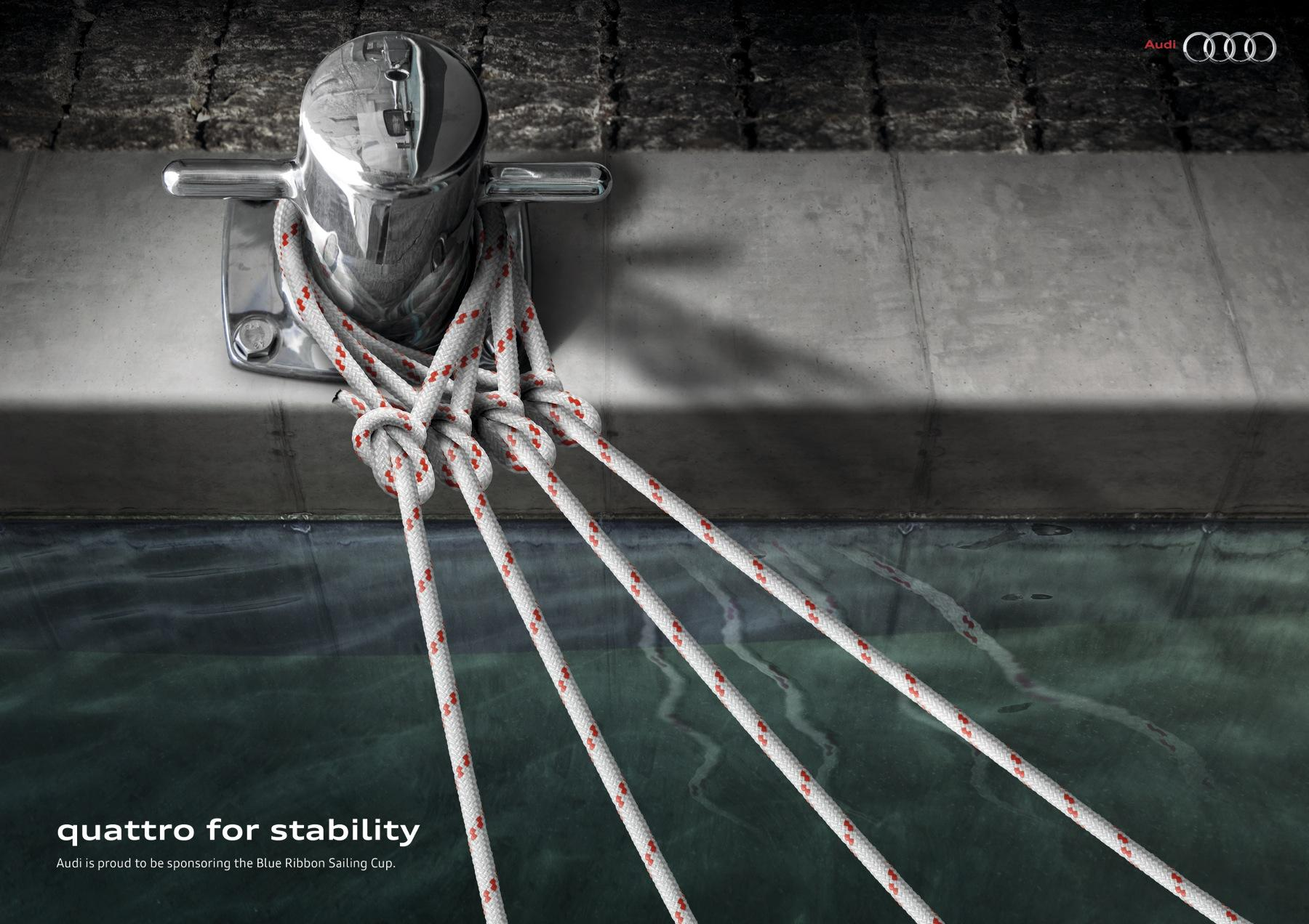 Audi Print Ad -  Blue Ribbon Sailing Race