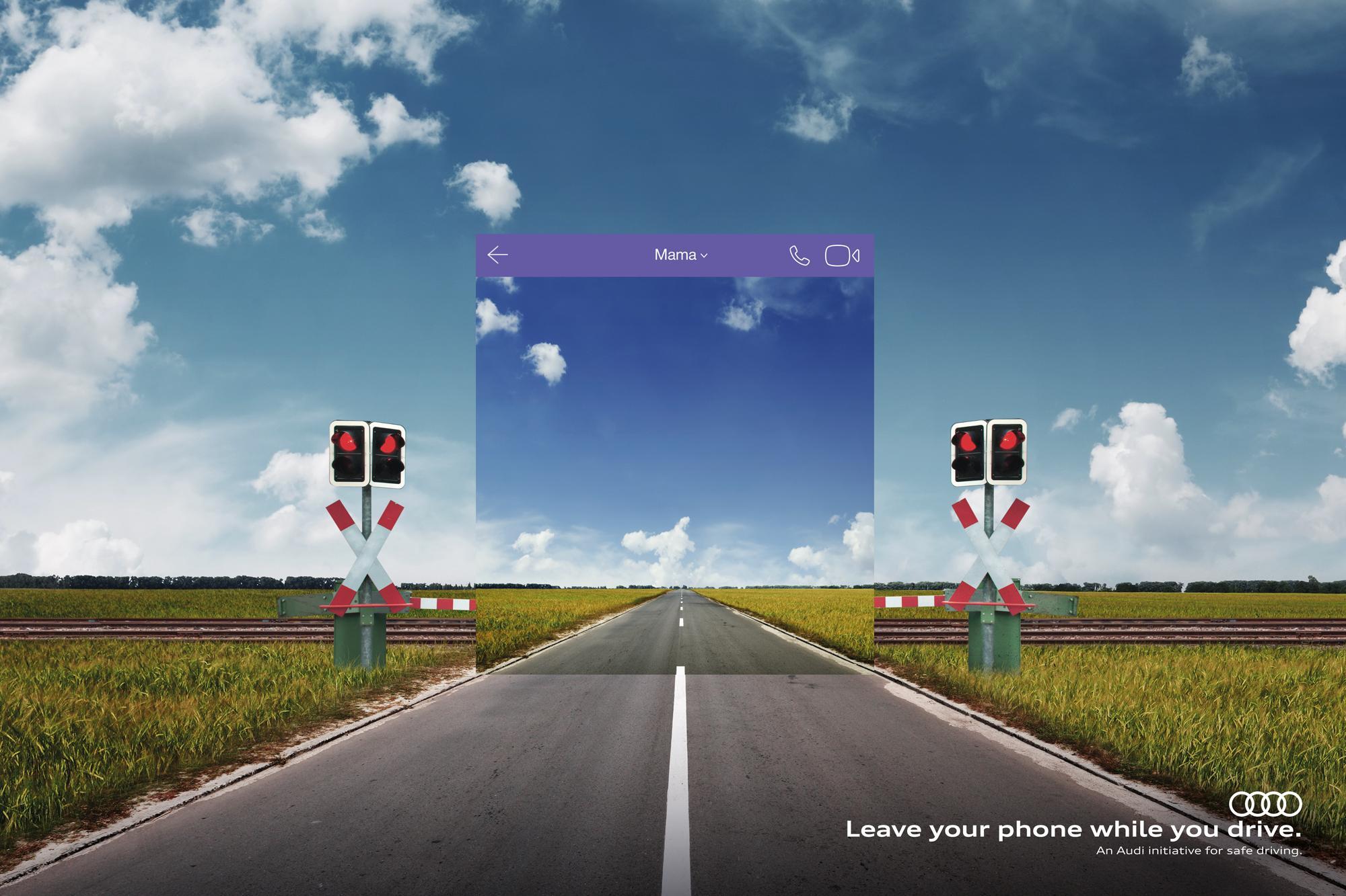 Audi Print Ad - Train