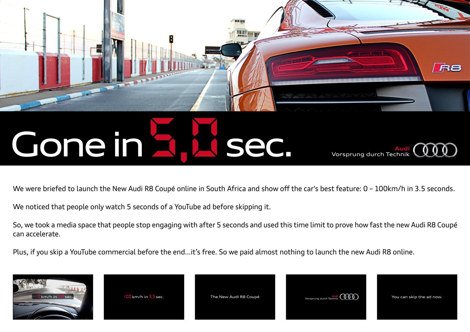 Audi Digital Ad -  Gone in 5 seconds