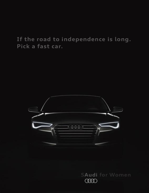 Audi Print Ad - `SAudi for Women