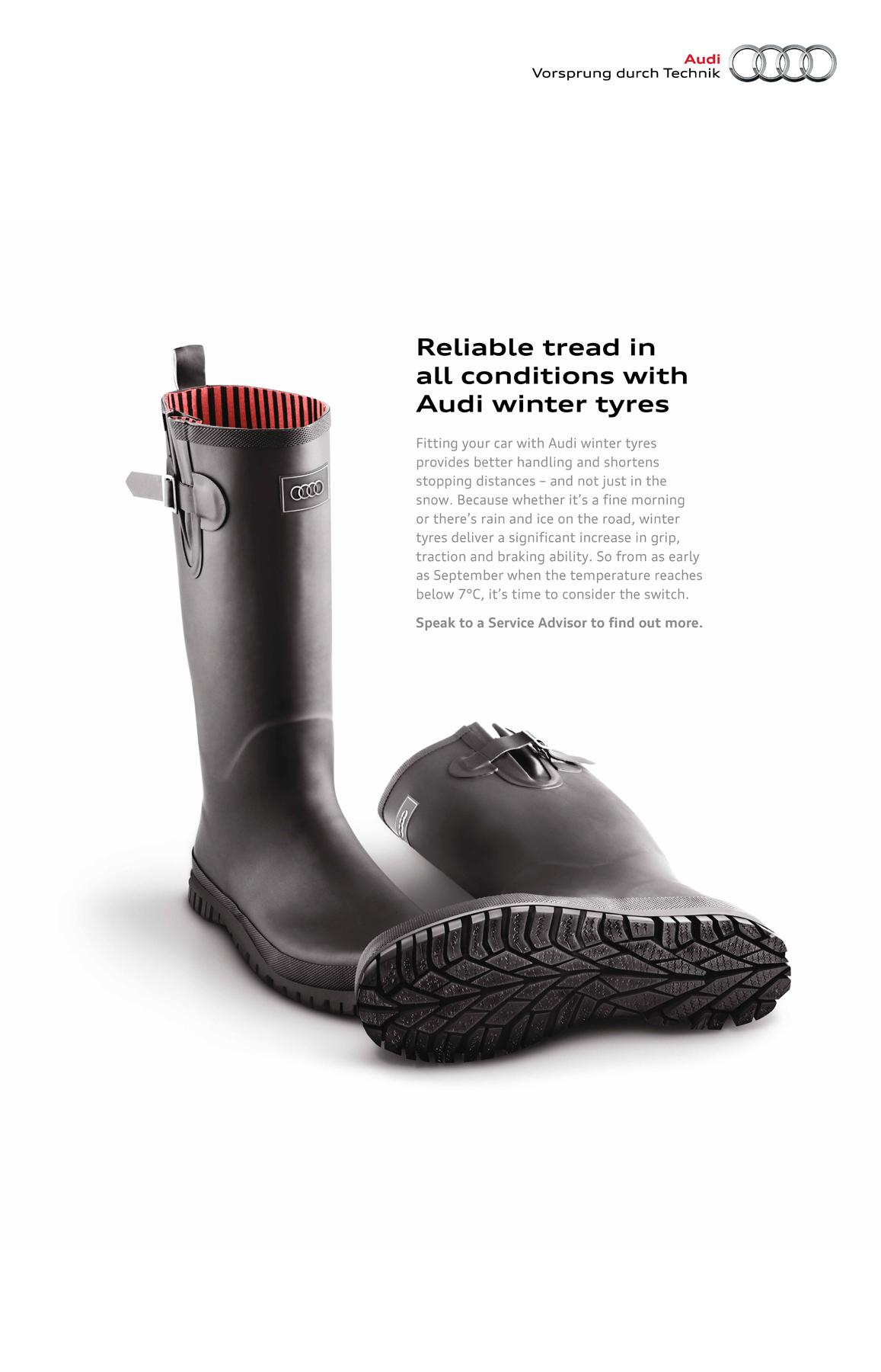 Audi Print Ad -  Winter Tyres