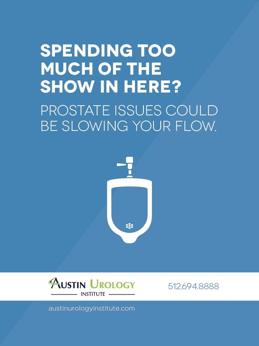 Austin Urology Institute Outdoor Ad -  Bathroom Blitz, 1