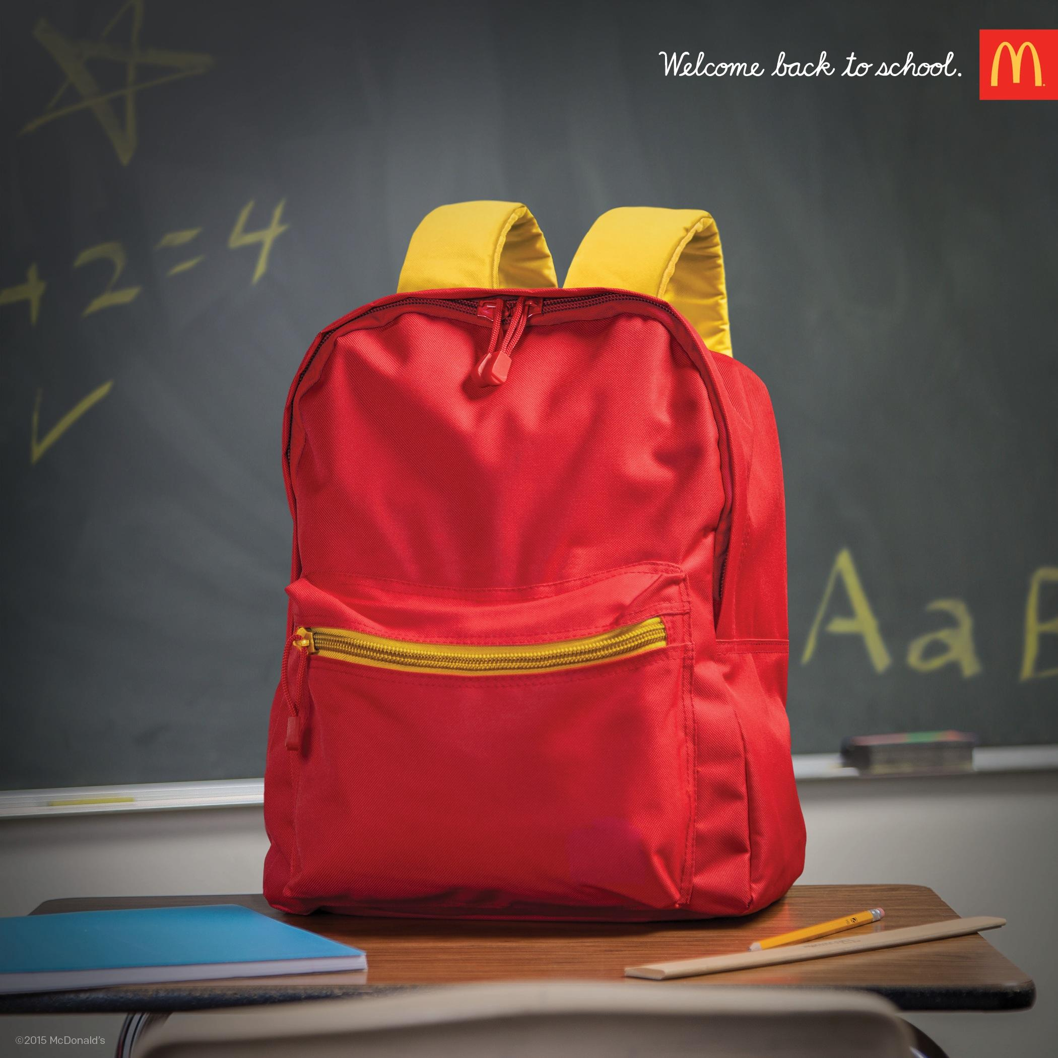 McDonald's Print Ad -  Backpack
