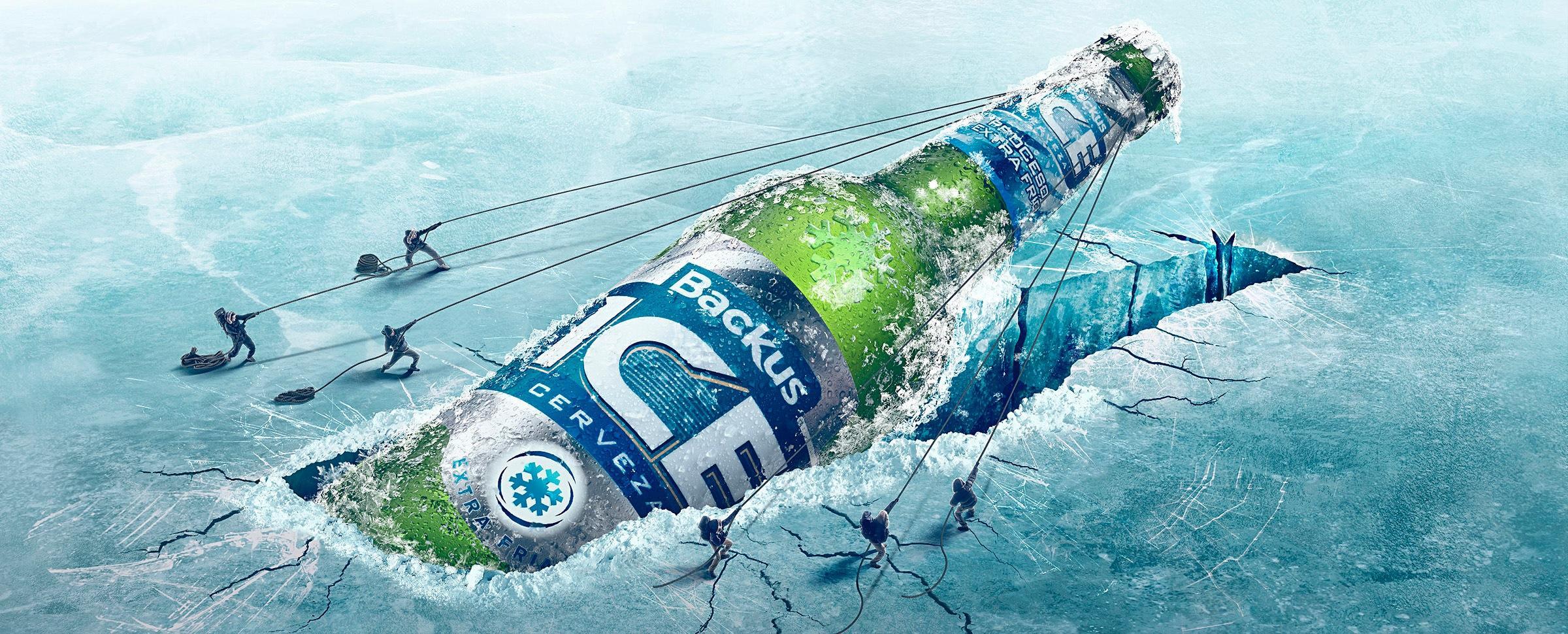 Backus Ice Outdoor Ad -  Hole