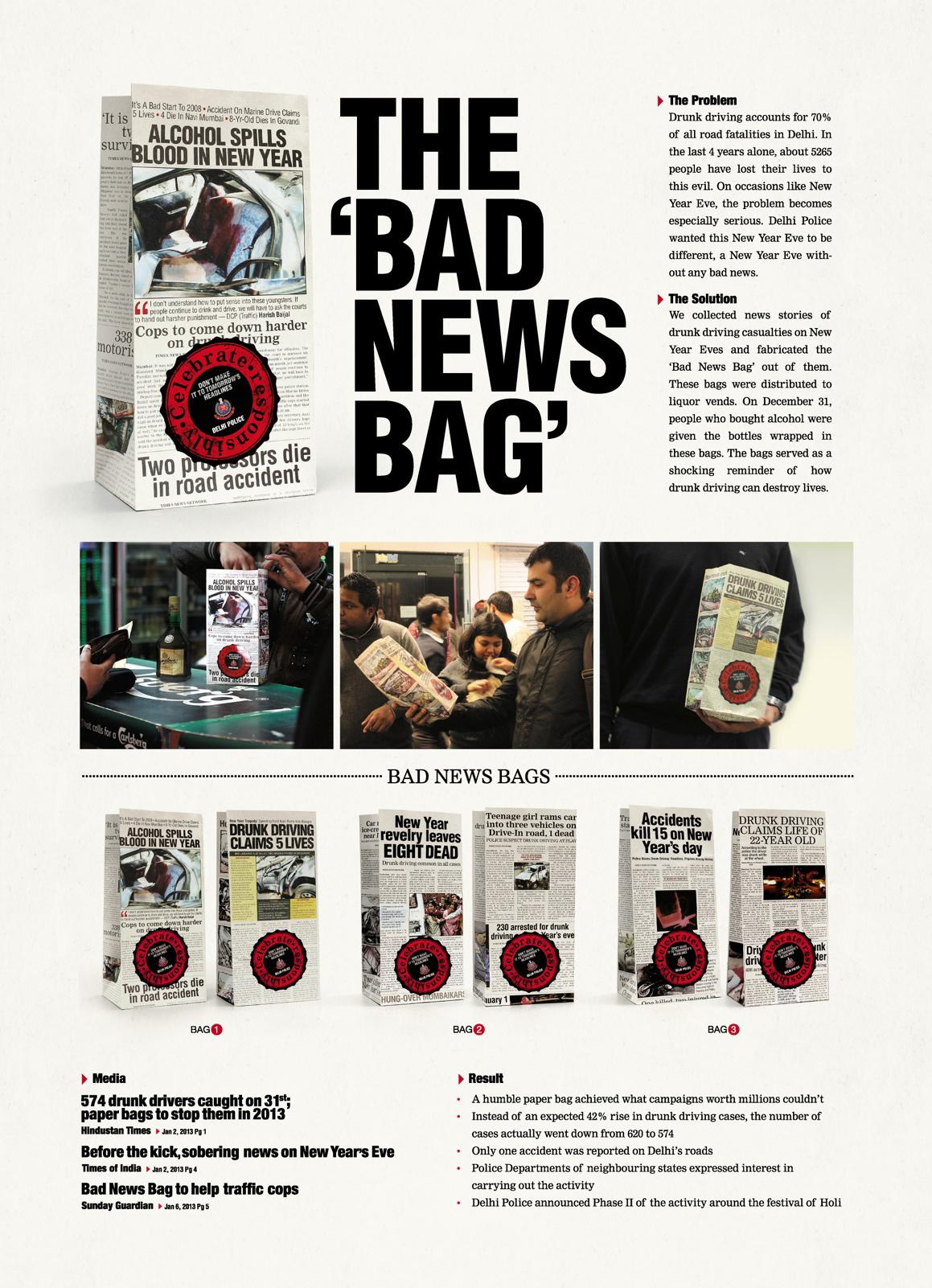 Delhi Police Direct Ad -  Bad news bag
