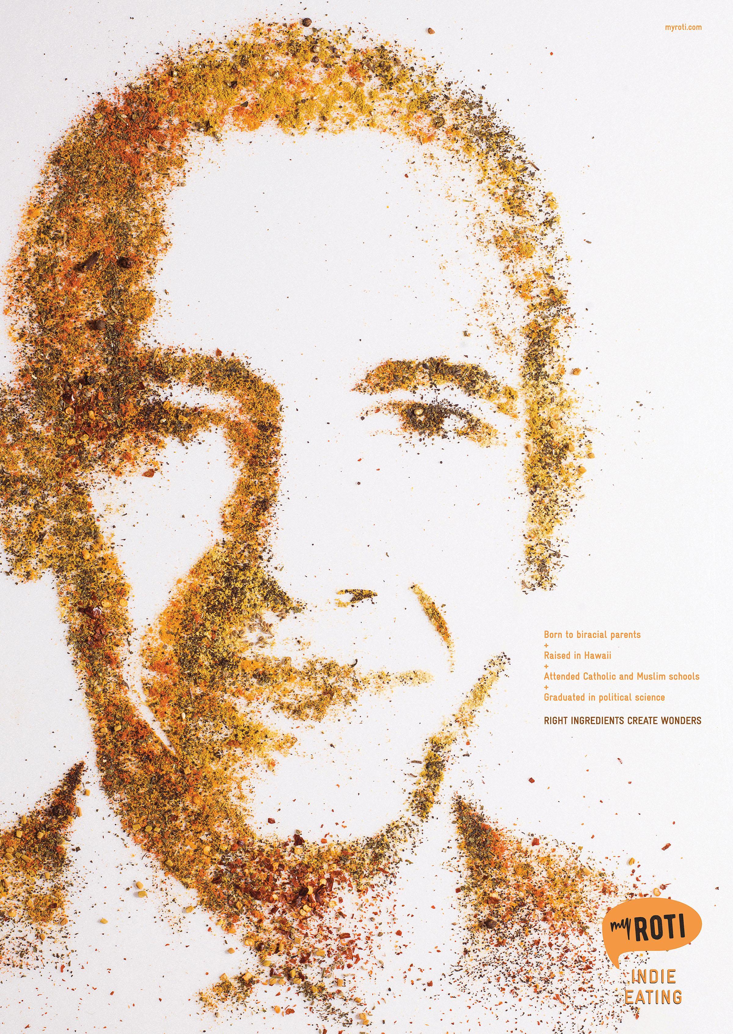 My Roti Print Ad - Barack Obama