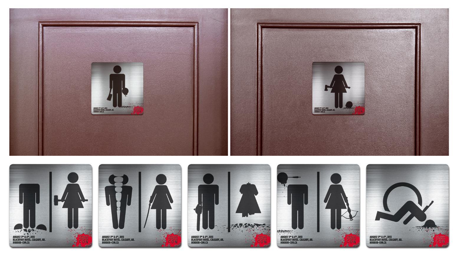 Calgary Horror Convention Ambient Ad -  Bathroom sticker