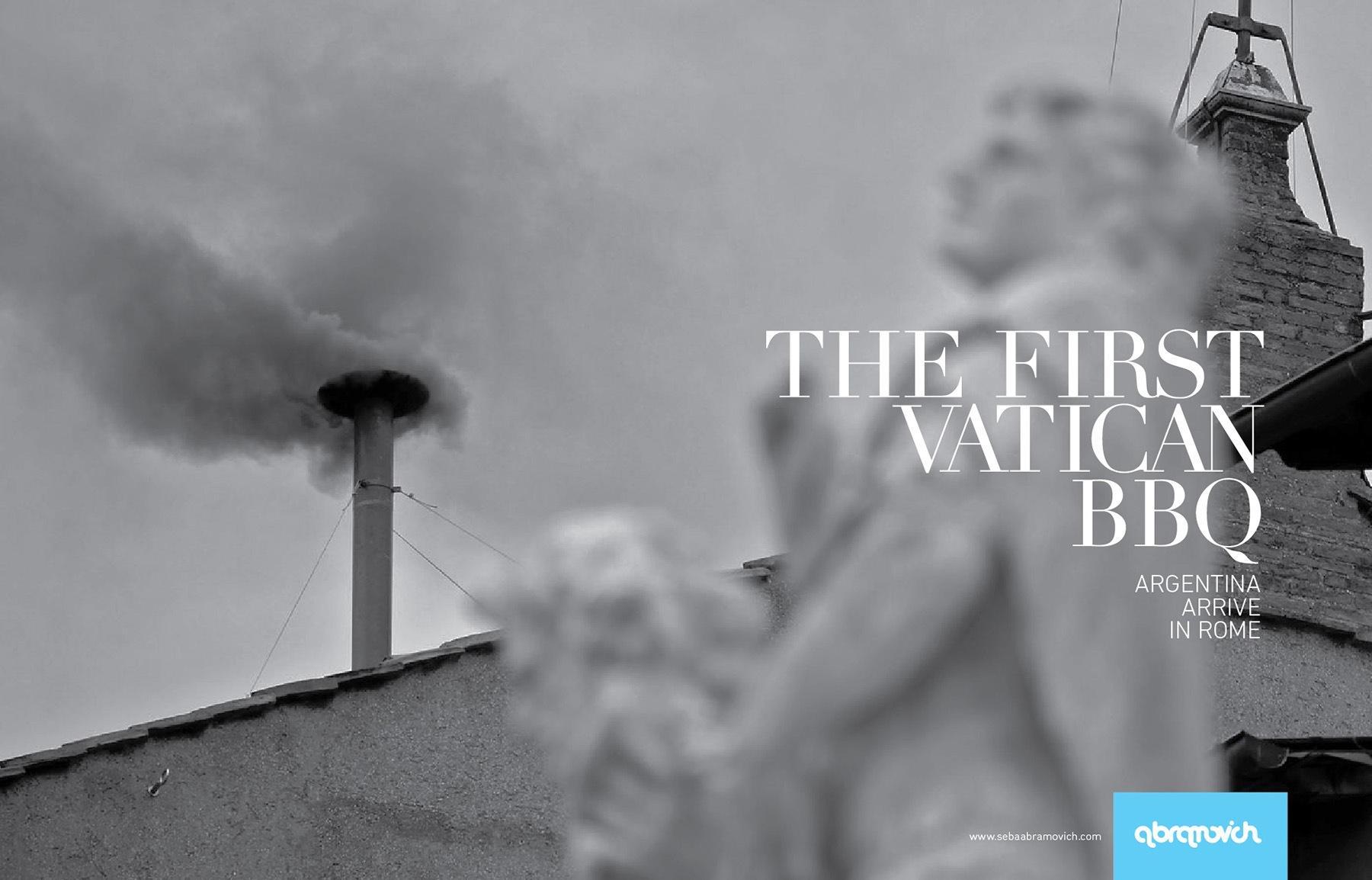 Abramovich Print Ad -  Vatican BBQ