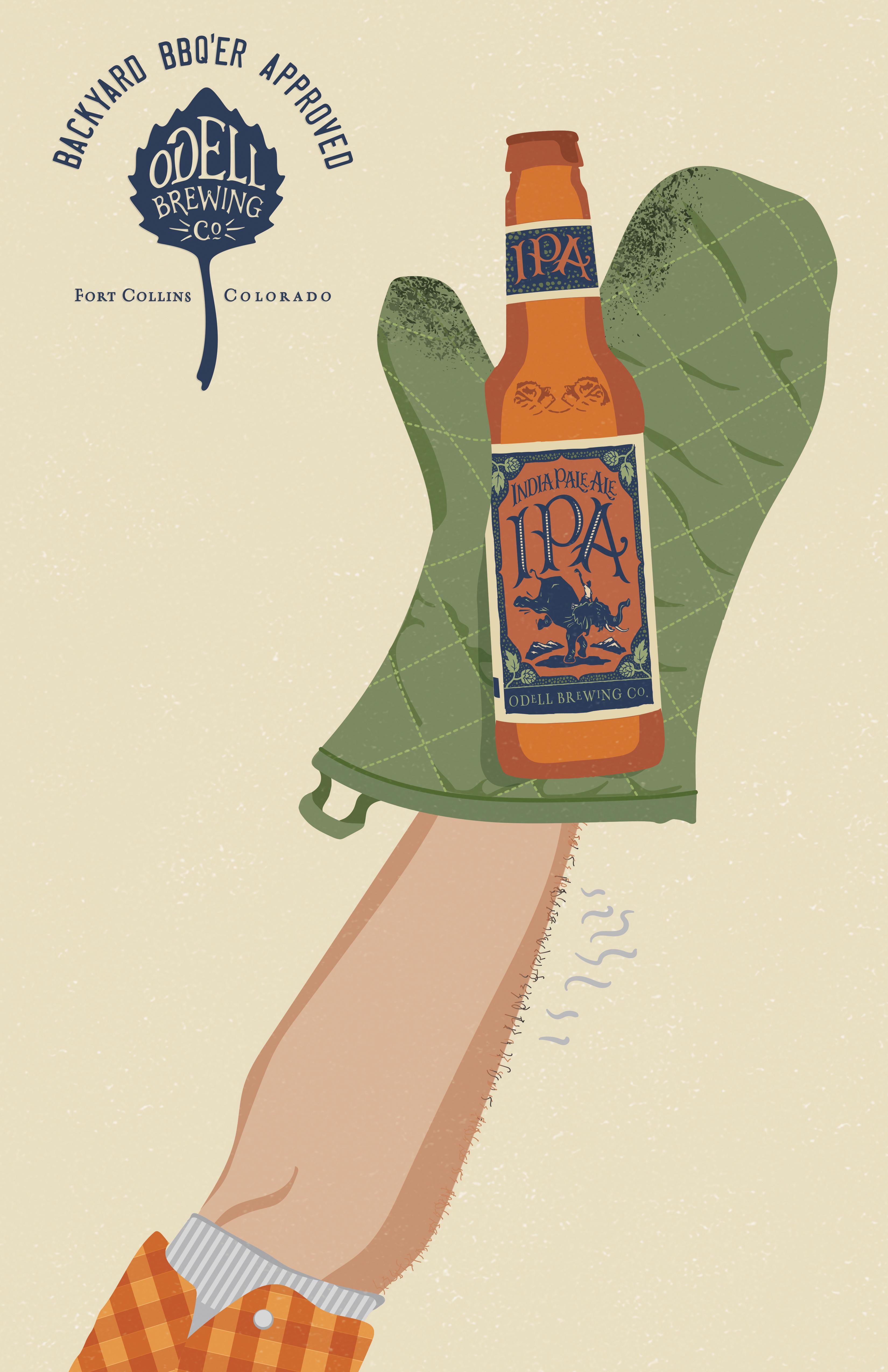 Odell Brewing Co Print Ad - Odell IPA Day - BBQ