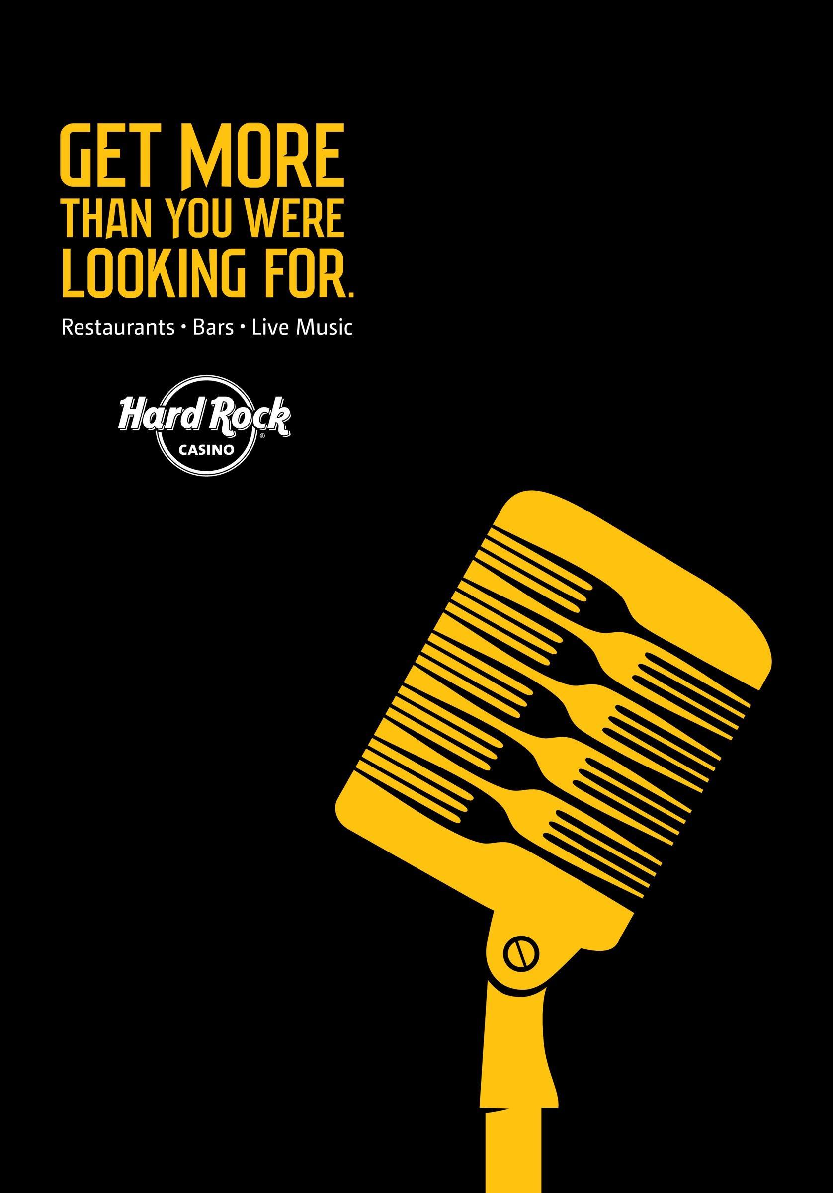 Hard Rock Casino Print Ad -  Microphone
