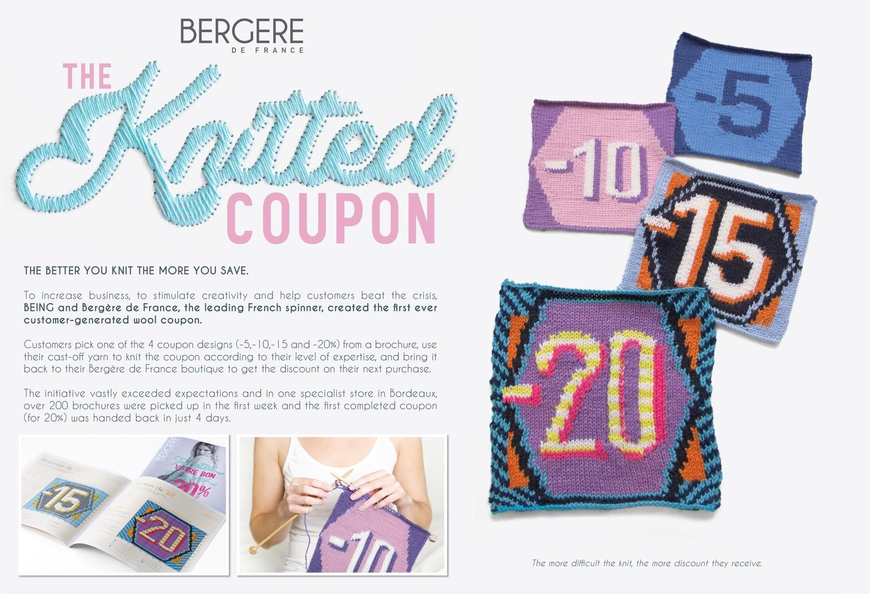 Bergère de France Ambient Ad -  The knitted coupon