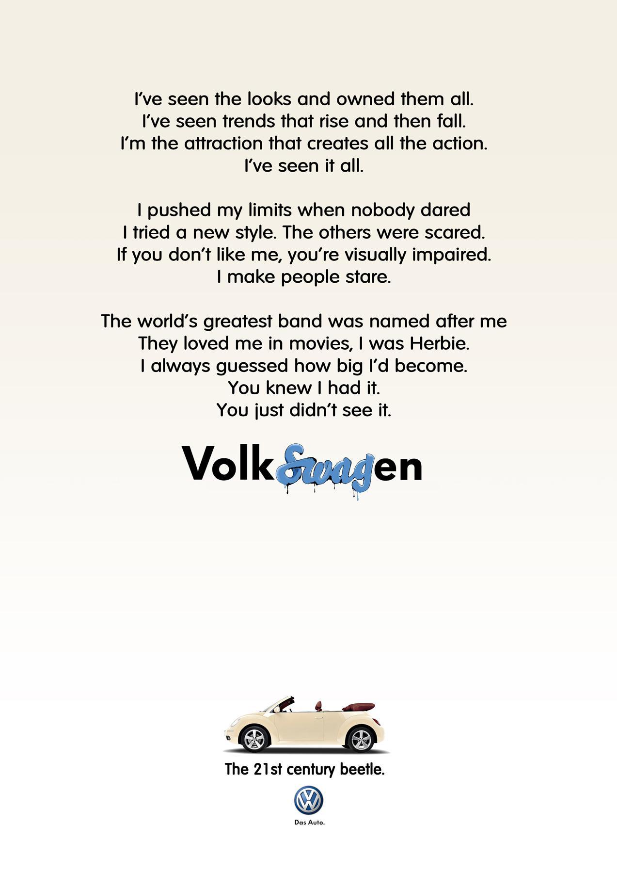Volkswagen Print Ad -  Beige