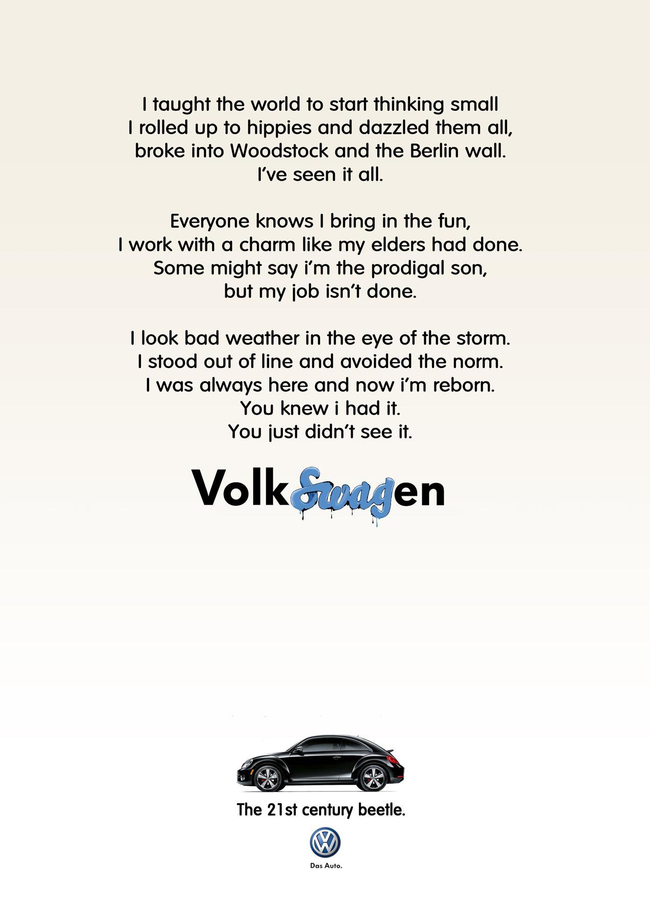 Volkswagen Print Ad -  Black