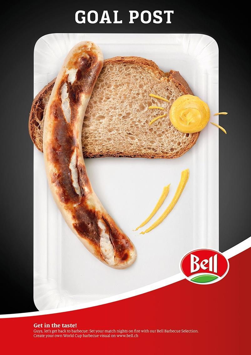 Bell Print Ad -  Goal post