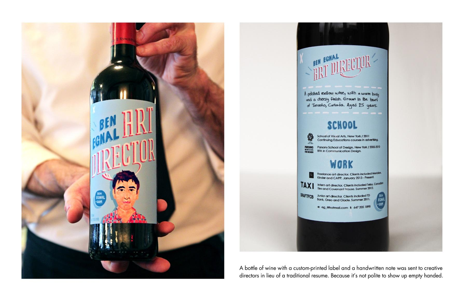 Wine Bottle Resume