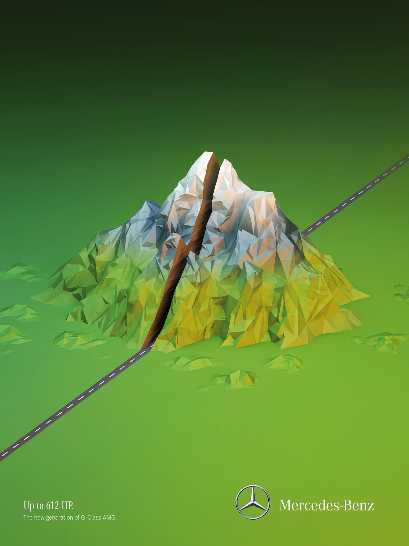 Mercedes Print Ad -  Mountain