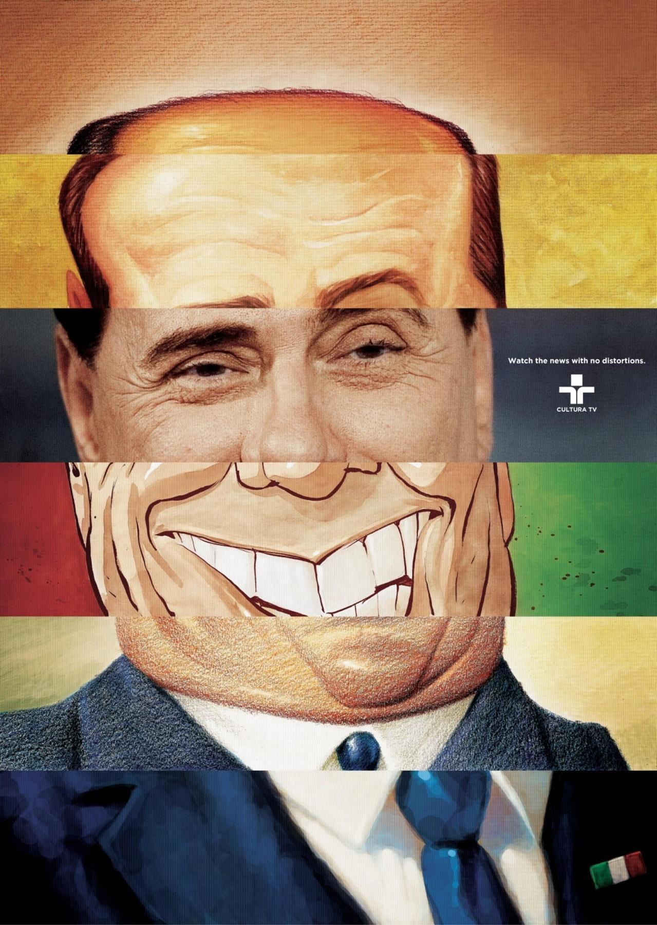 Cultura TV Print Ad -  Berlusconi