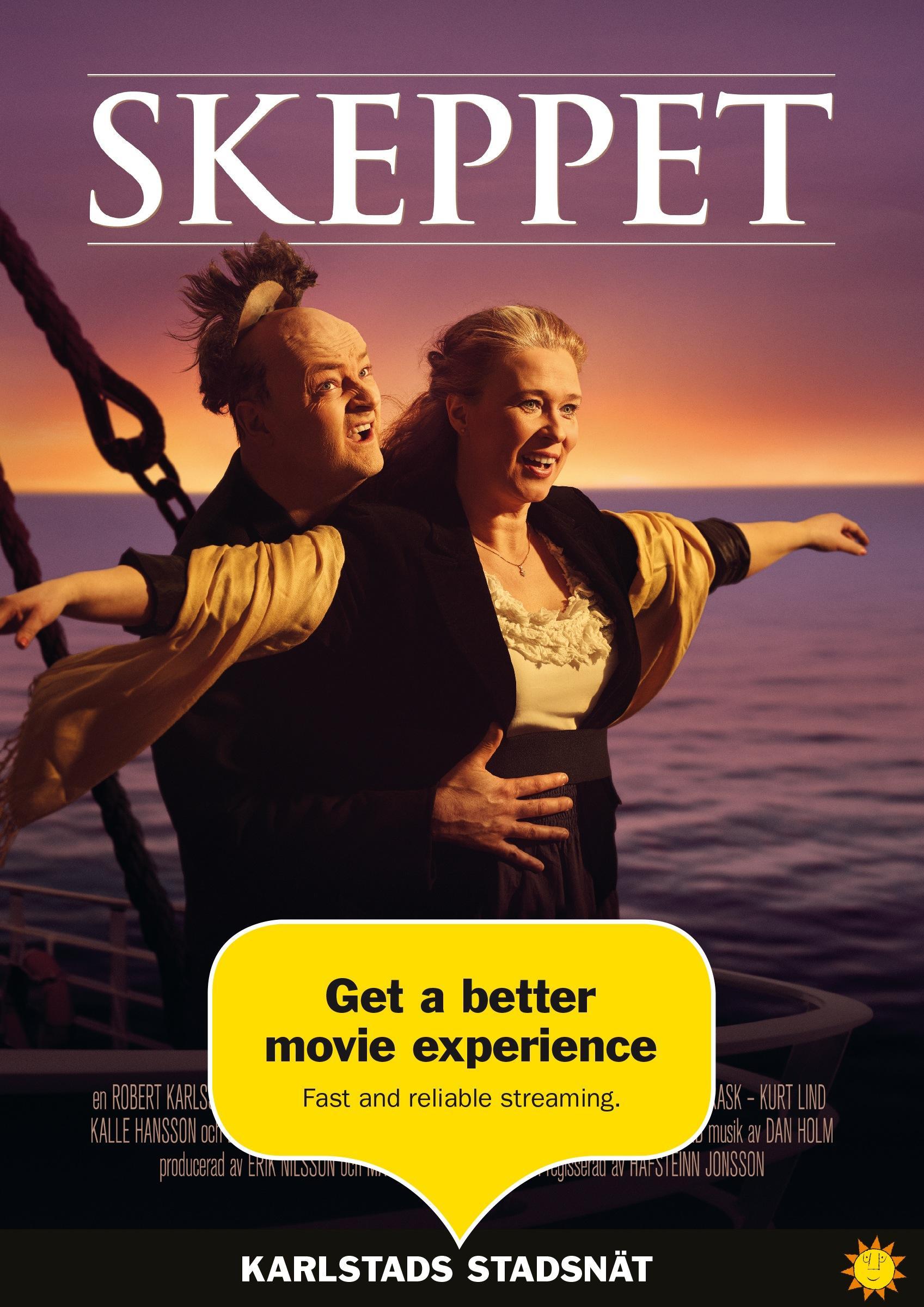 Karlstads Stadsnät Print Ad -  Titanic