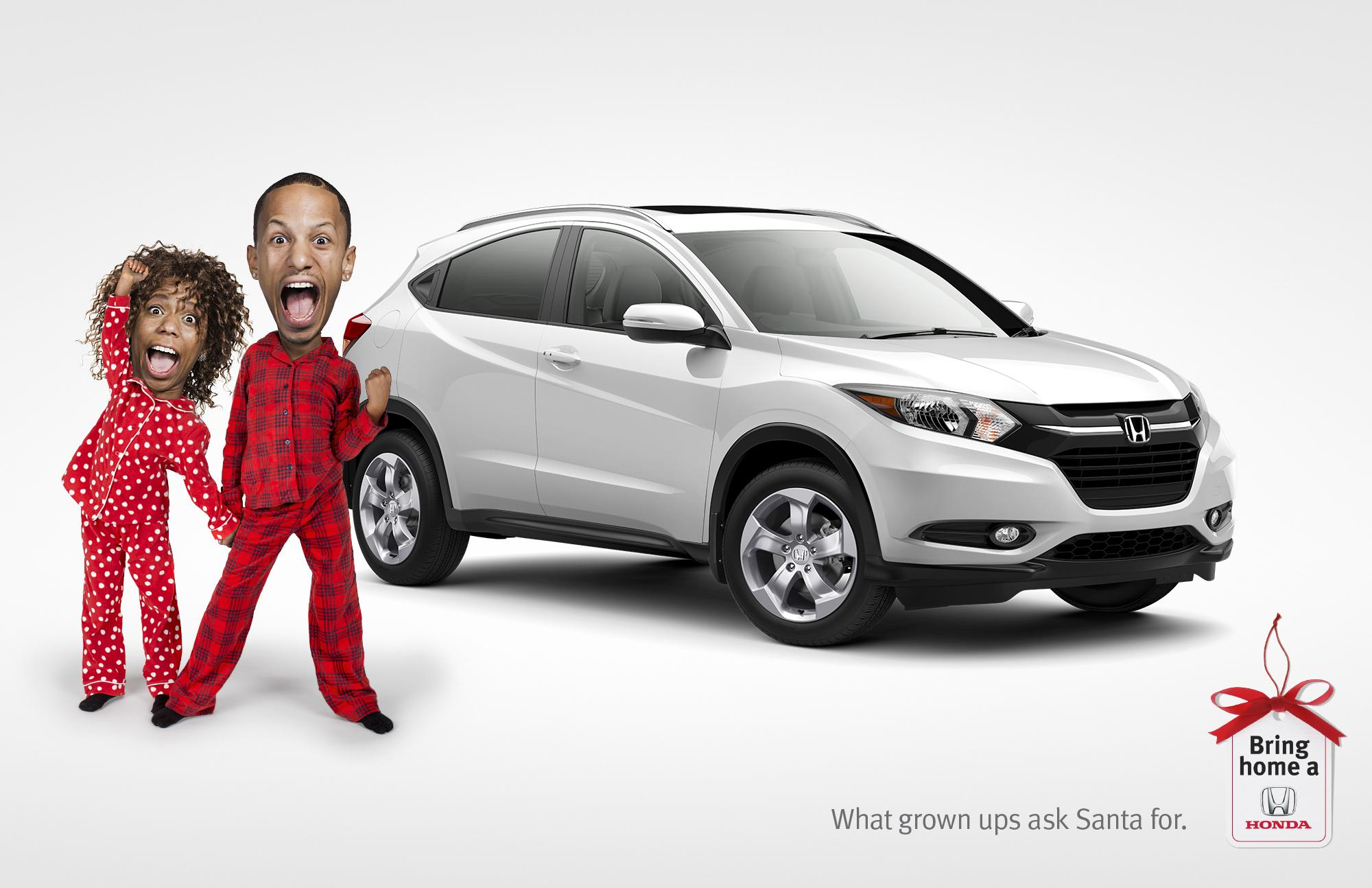 Honda Print Advert By Wax: Bring home a Honda - Santa | Ads of the