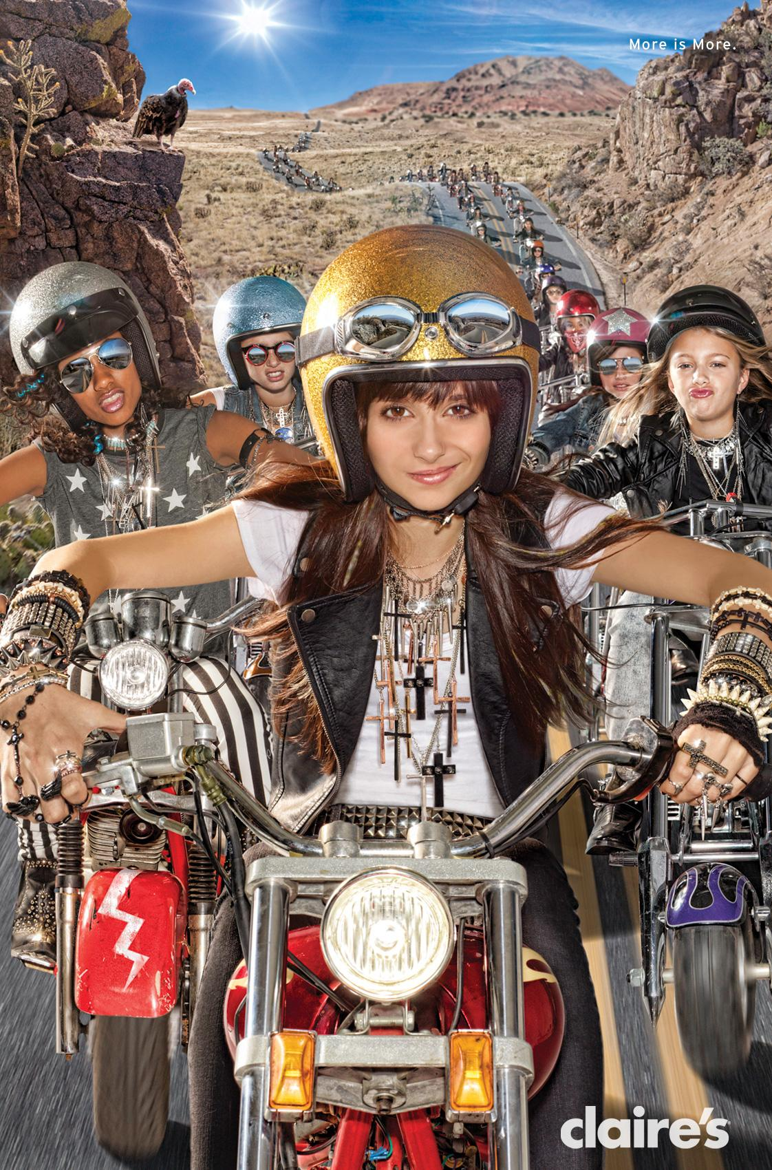 Claire's Outdoor Ad -  Bikers