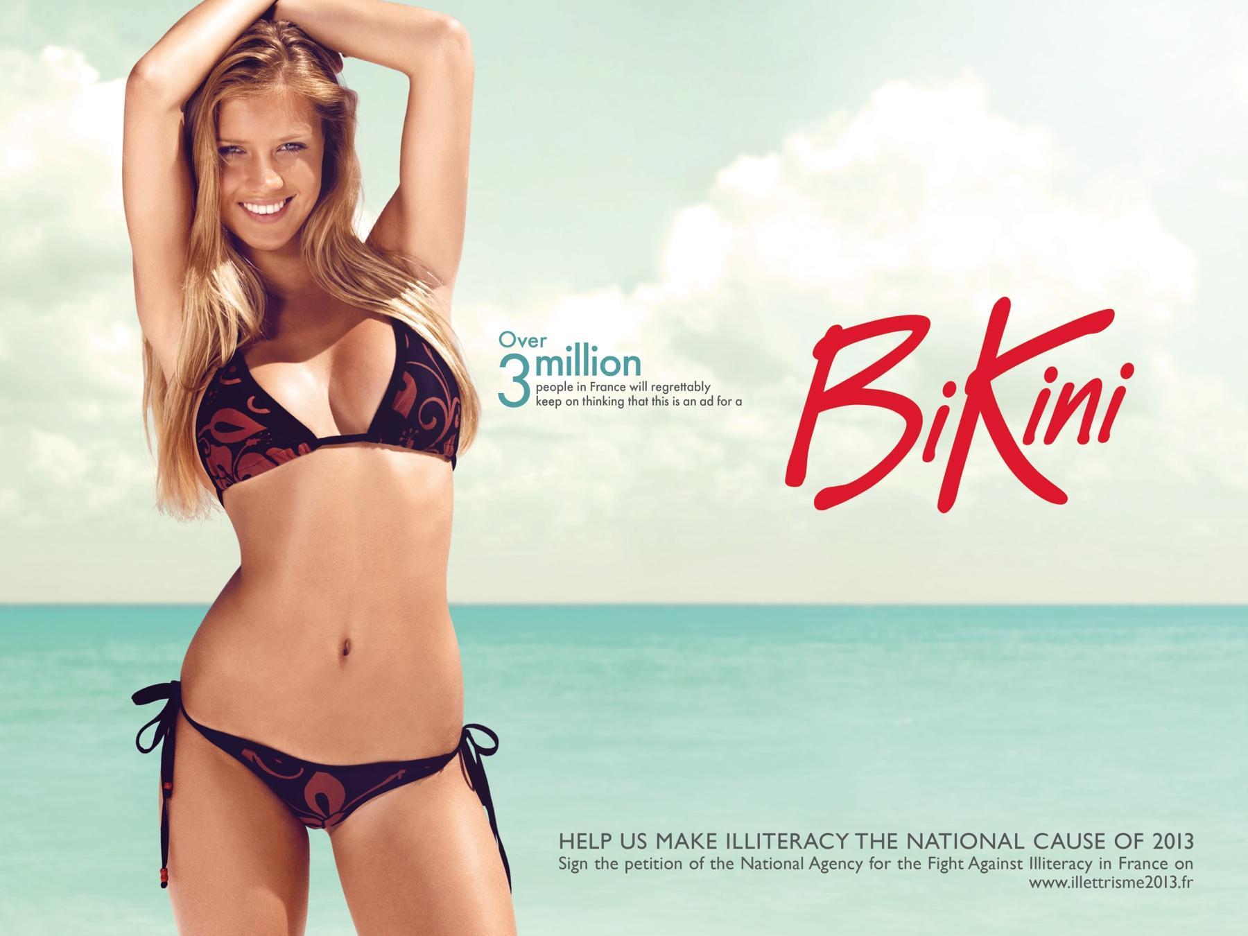 Fight for literacy Print Ad -  Bikini