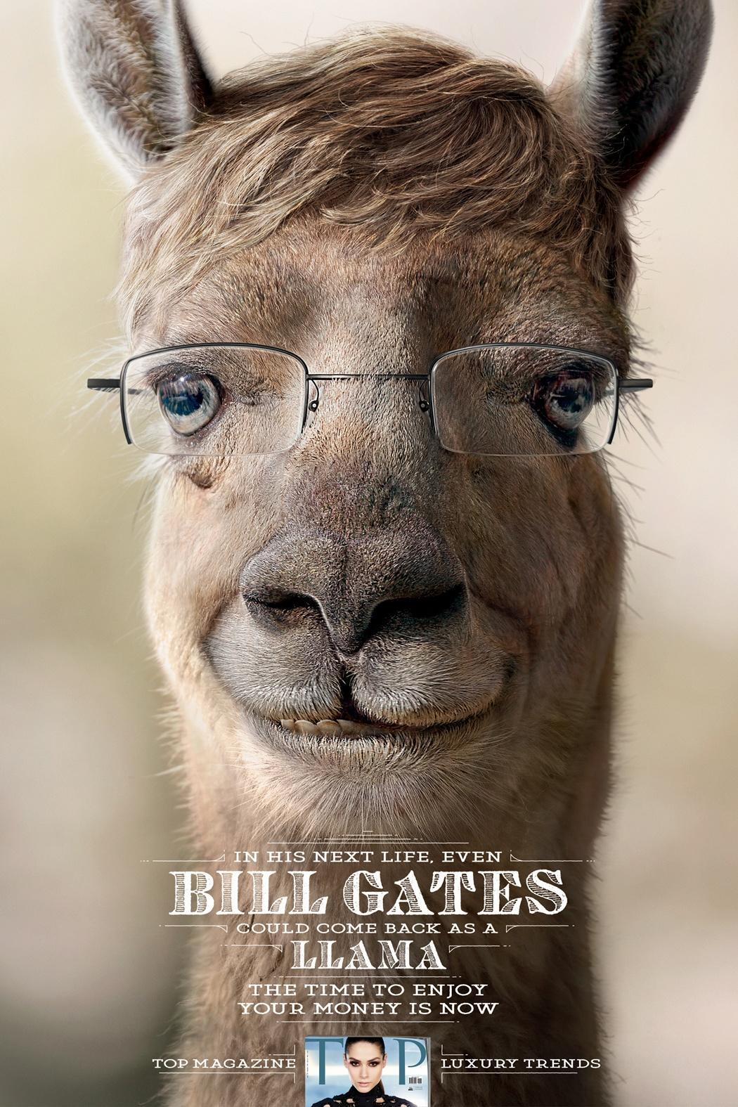 TOP Magazine Print Ad -  Bill Gates