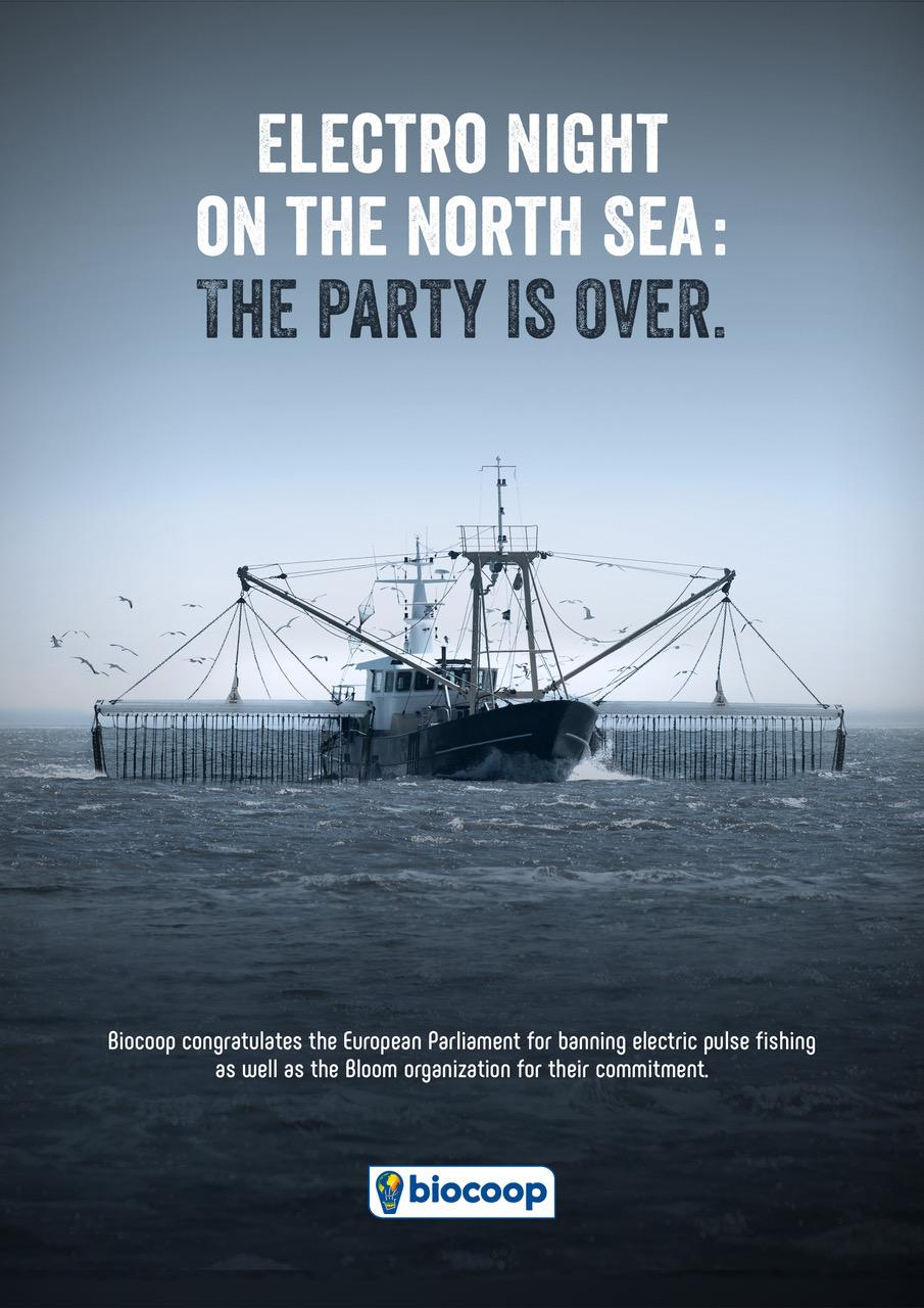Biocoop Print Ad - Electric Pulse Fishing, The Party Is Over