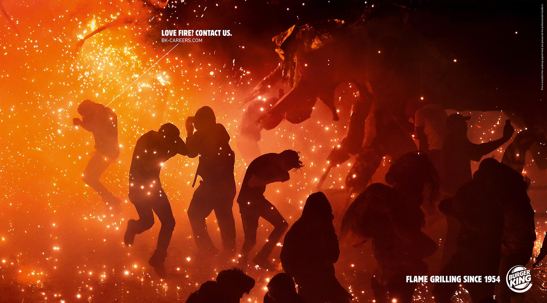 Burger King Print Ad - Love Fire, 3