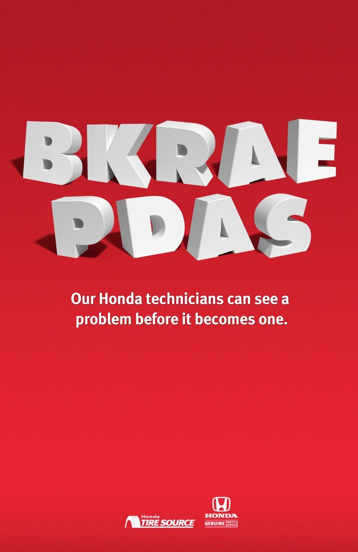 Honda Print Ad -  Bkrae Pdas