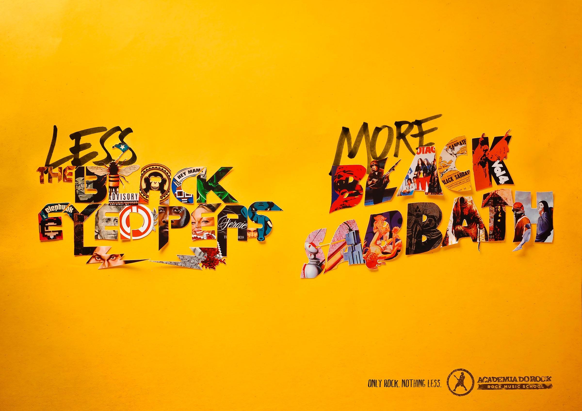 Academia do Rock Print Ad -  Black