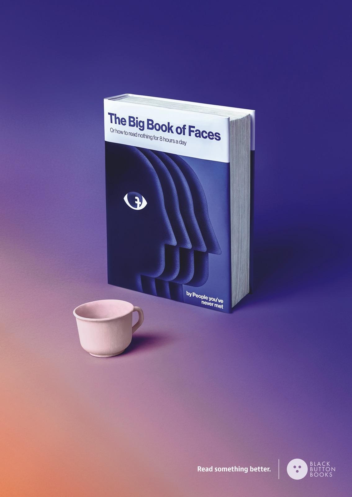 Black Button Books Print Ad - Big Book of Faces