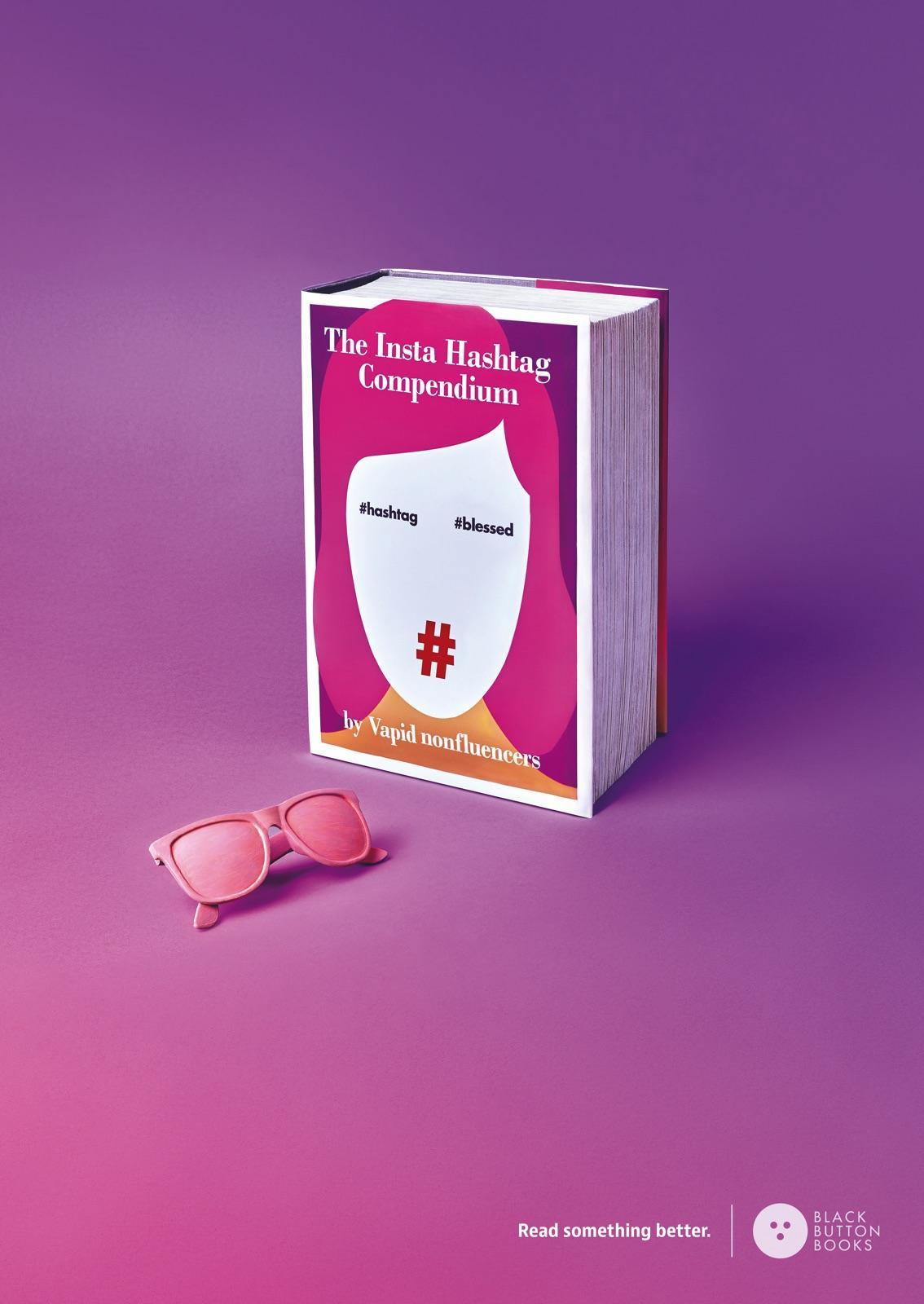 Black Button Books Print Ad - Hashtag Compendium