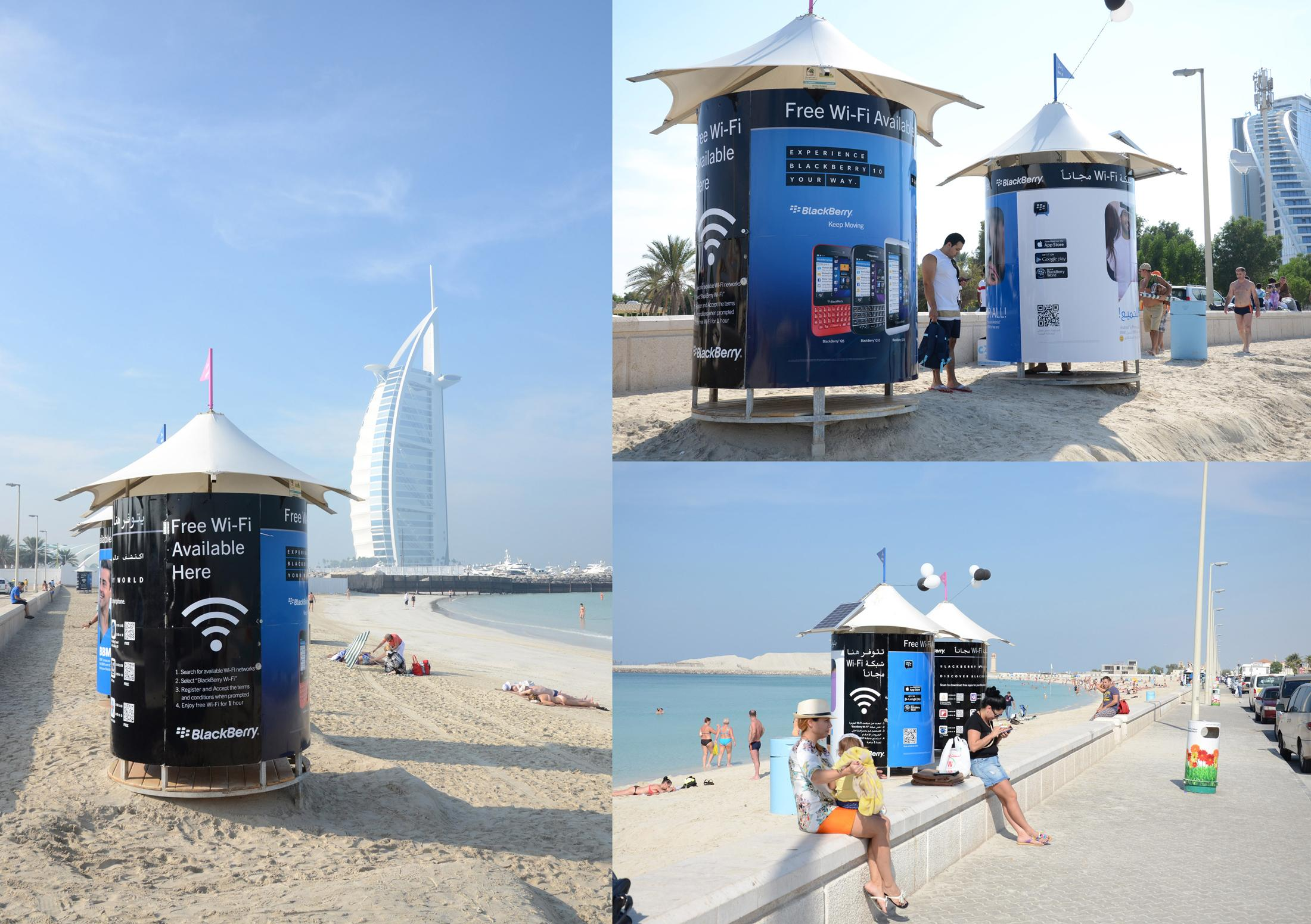 BlackBerry Outdoor Ad -  Free WiFi on the Beach