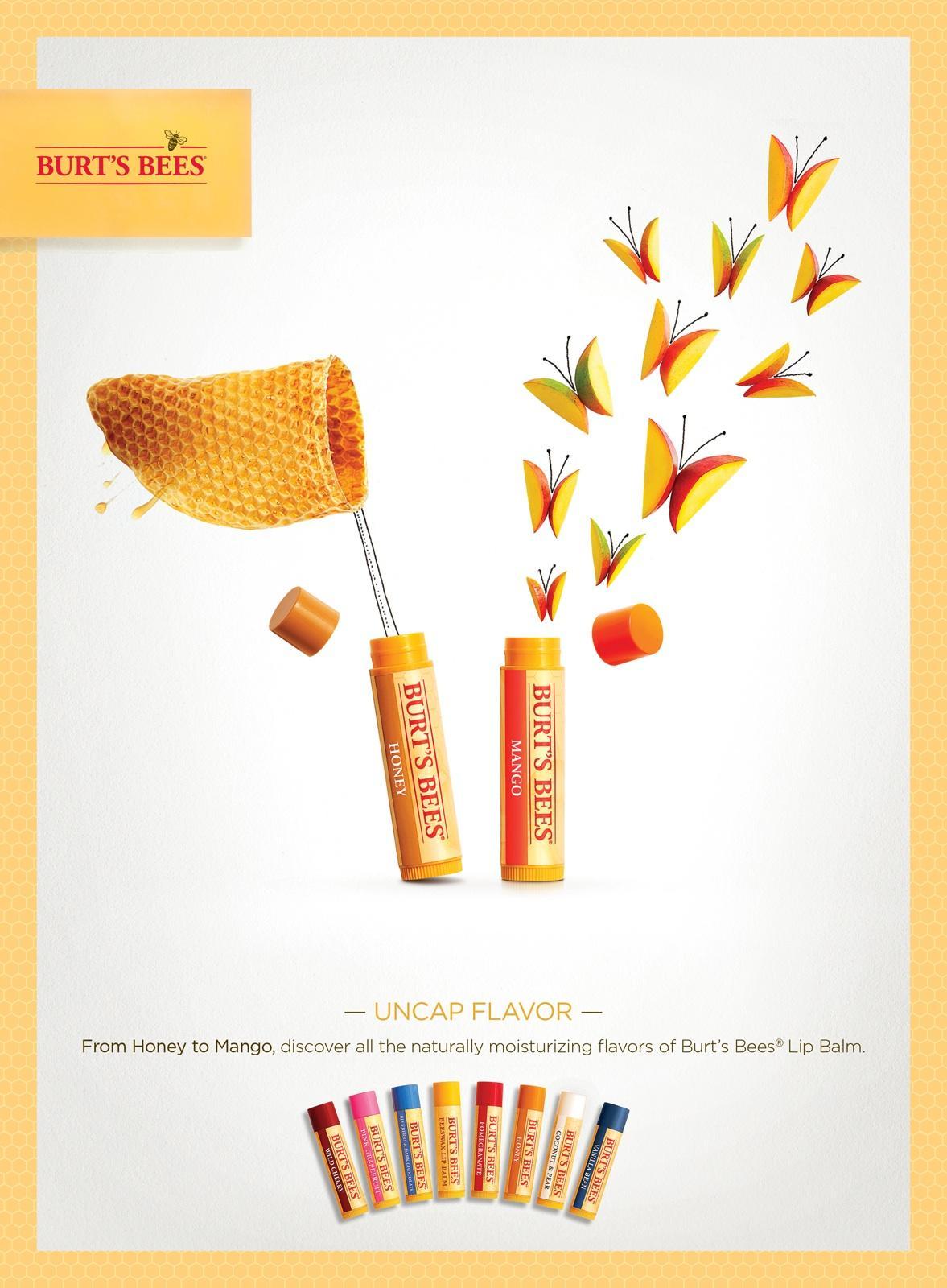 Burt's Bees Print Ad -  Uncap Flavor, 3