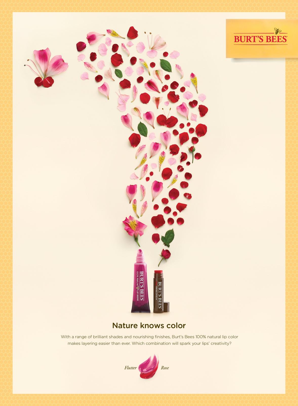 Burt's Bees Print Ad -  Butterfly Rose