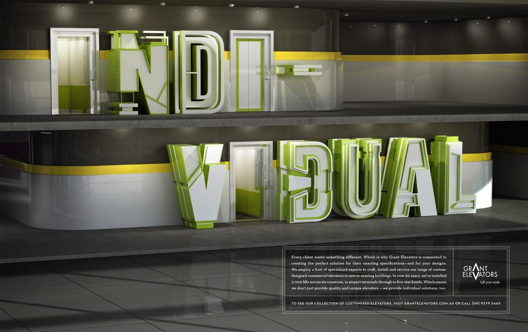 Grant Elevators Print Ad -  Individual