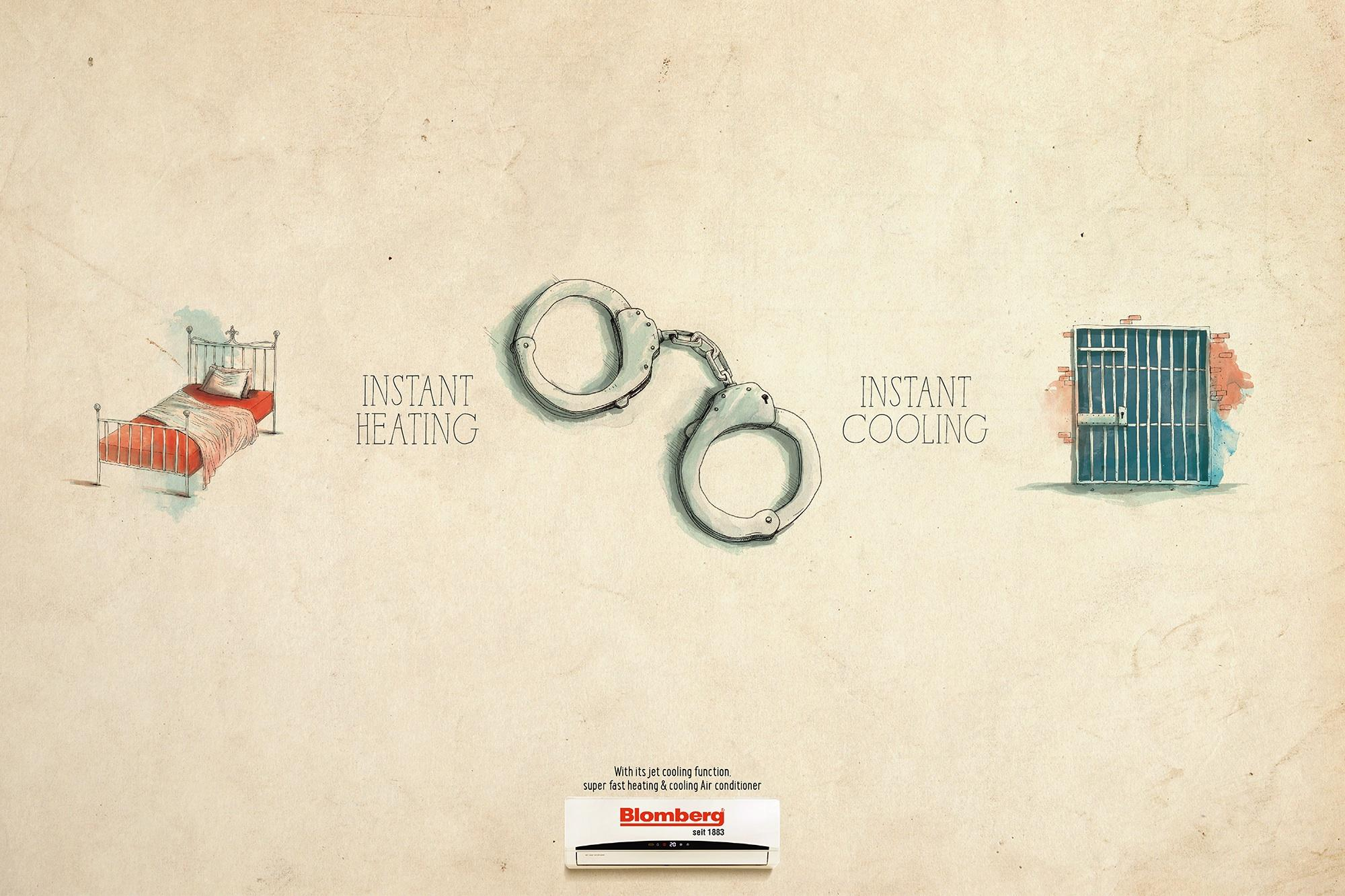 Blomberg Print Ad -  Handcuffs